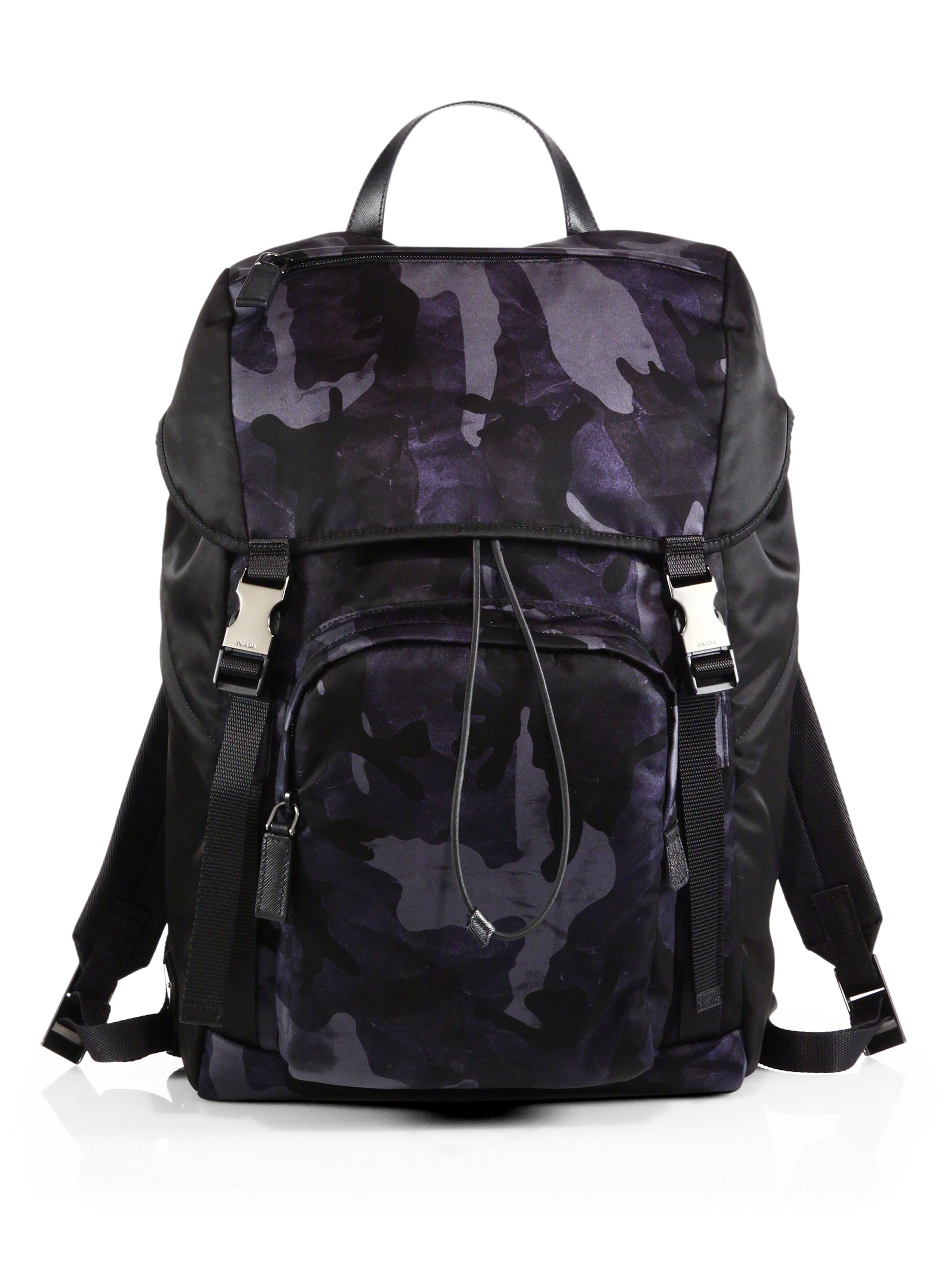 e5fba5a1bb8b ... get where to buy lyst prada nylon camouflage backpack in blue for men  eb879 b1e30 715a8