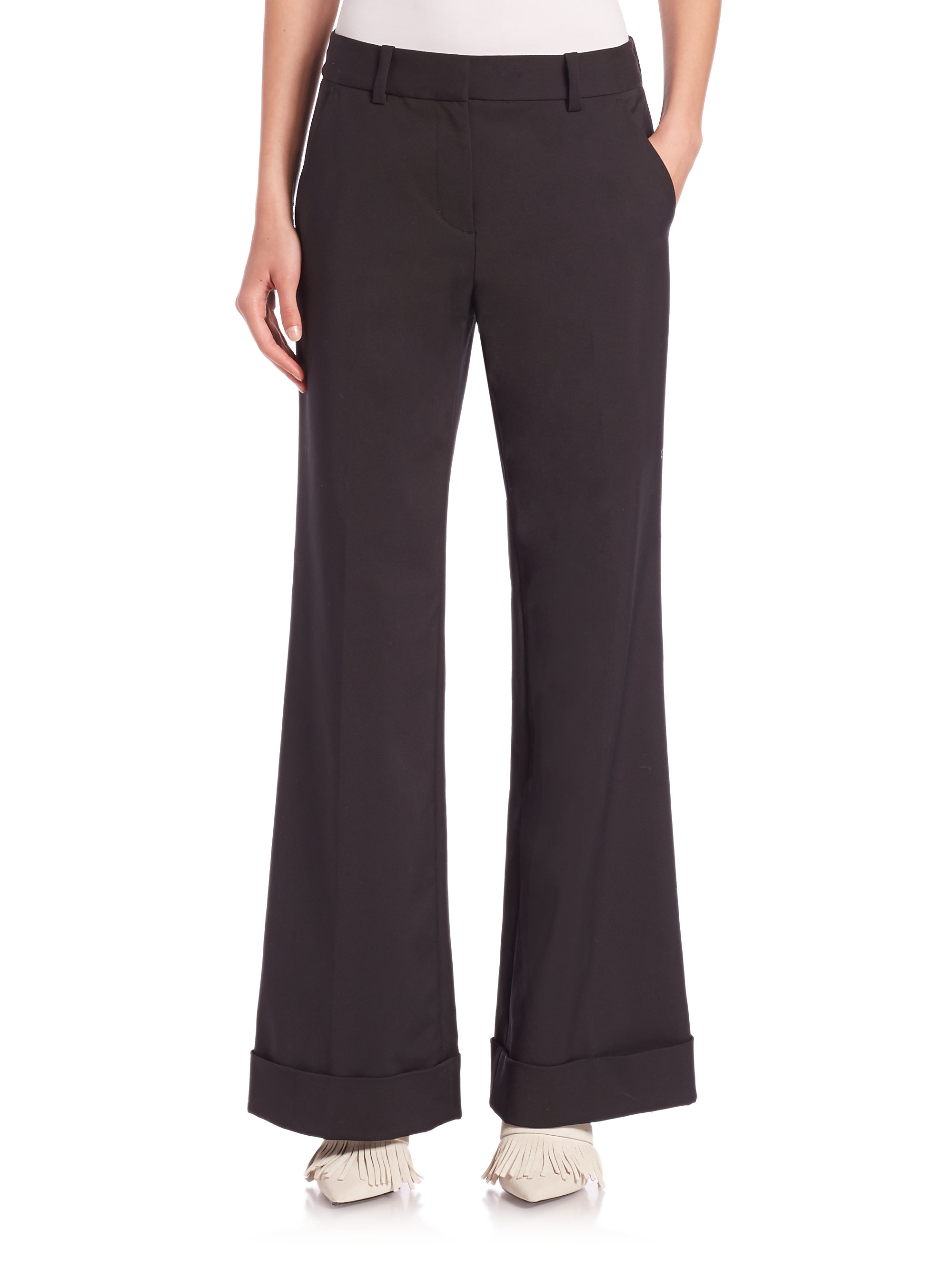 Cuffed Wide-Leg Pants, Black. Gallery. Wide-Leg Cuffed Pants. Quick Look. Robert Rodriguez · Cotton-Linen Wide-Leg Pants. Classic Cuffed Wide-Leg Pants.