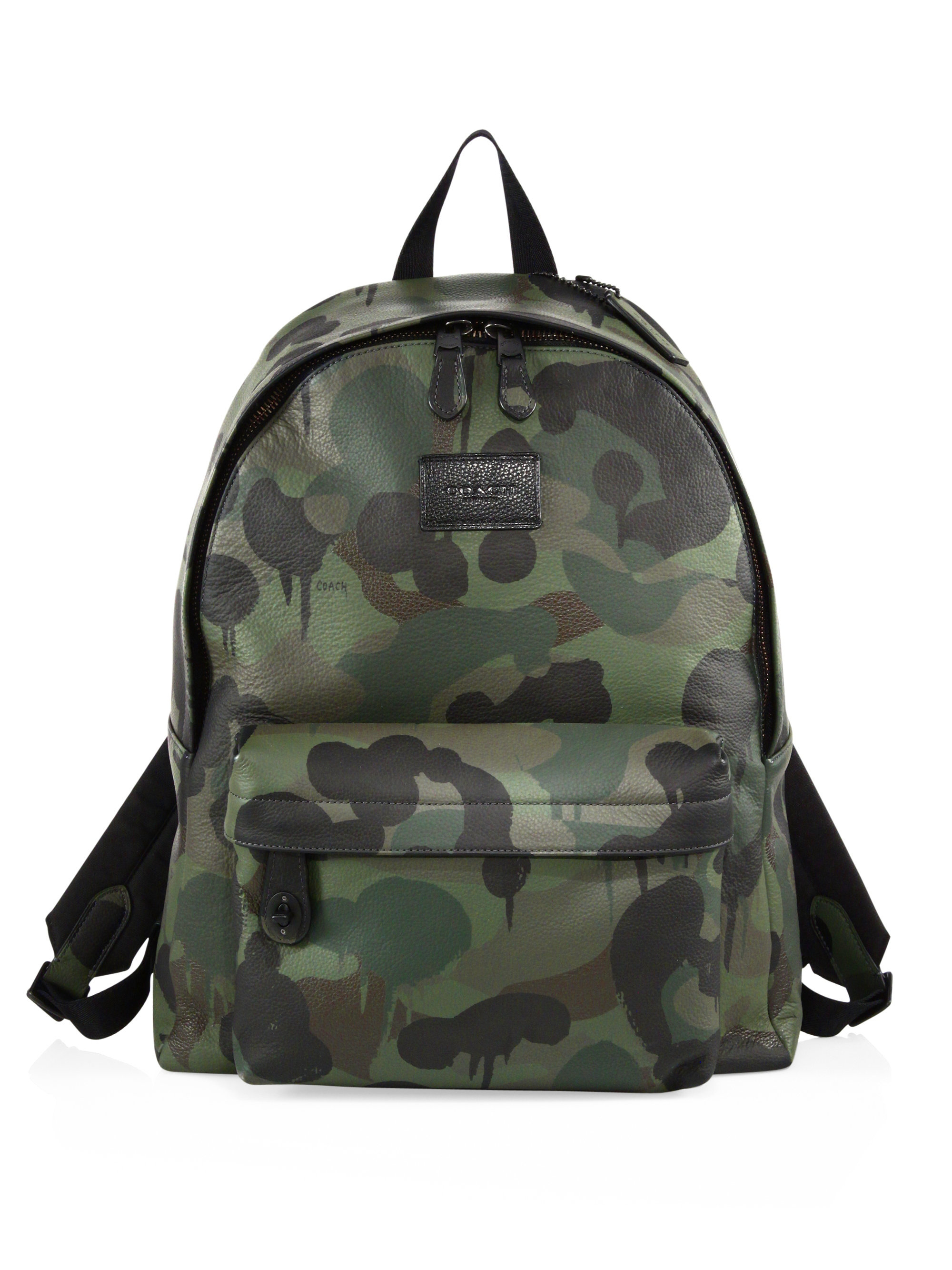 Coach Camouflage Campus Backpack in Green for Men | Lyst