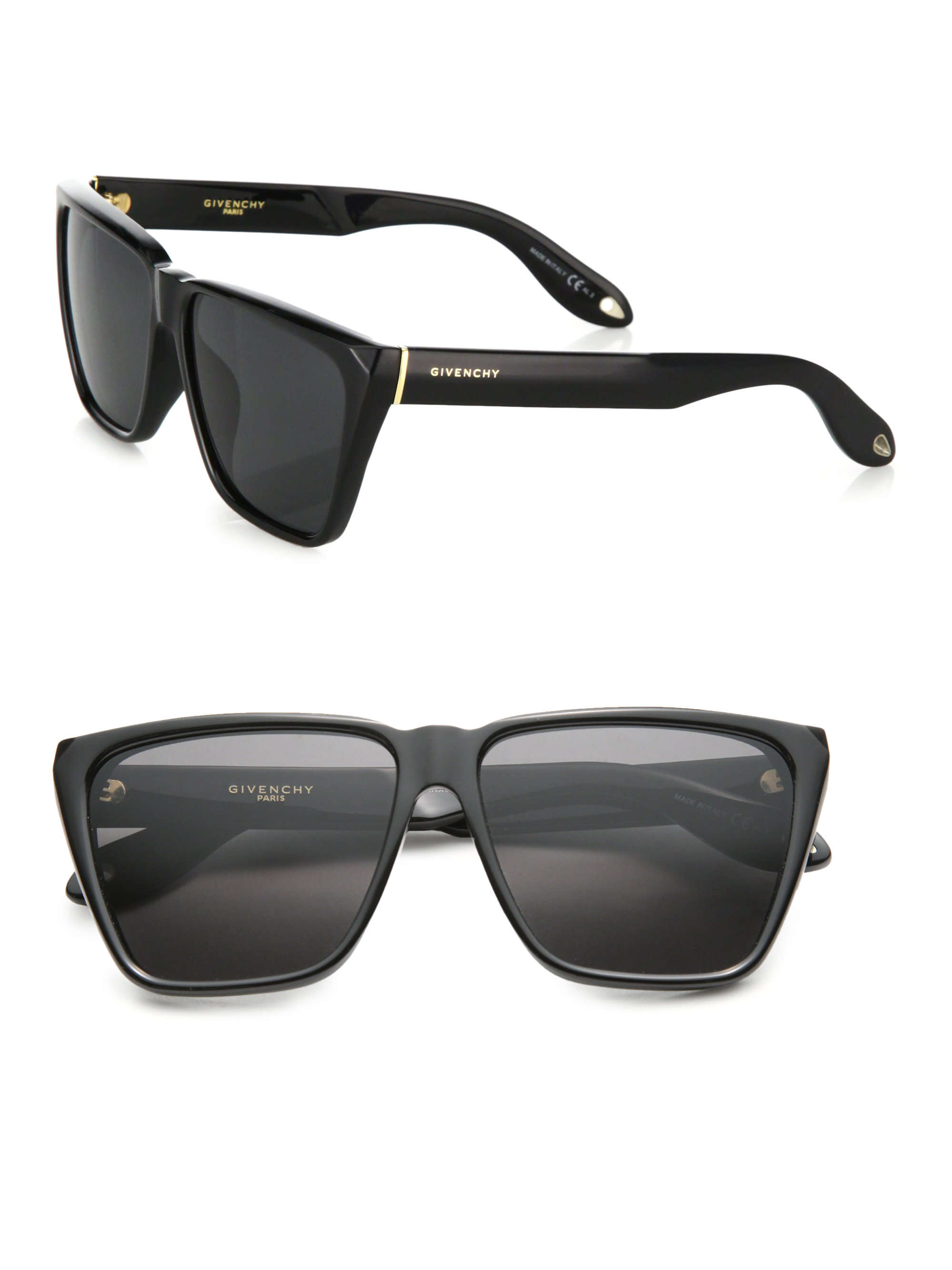 Givenchy 55mm Acetate Angular Sunglasses In Black Lyst