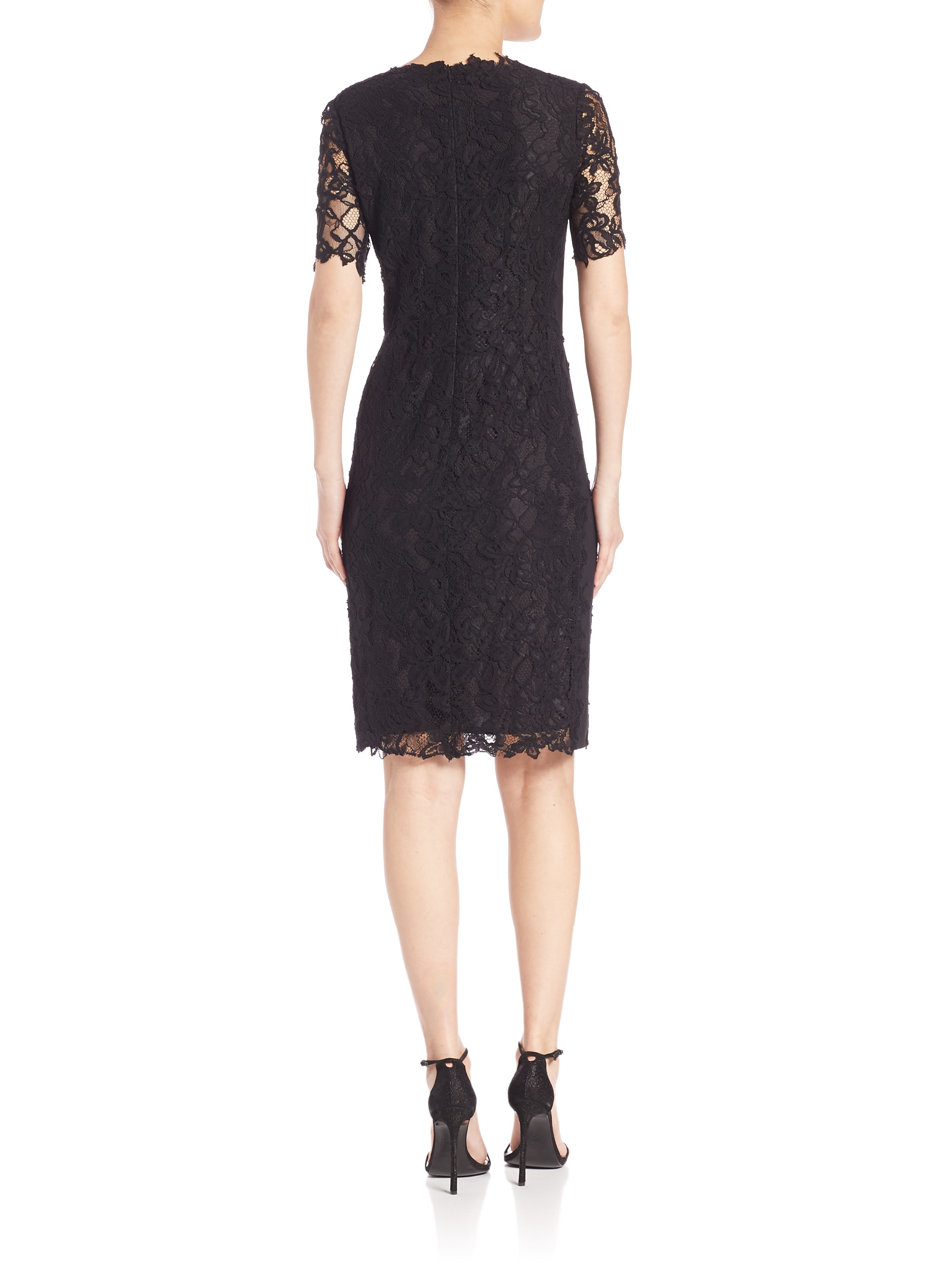 ed644b85 Lyst Tahari Tahari Lace lyst elie tahari crochet lace bellamy dress in black