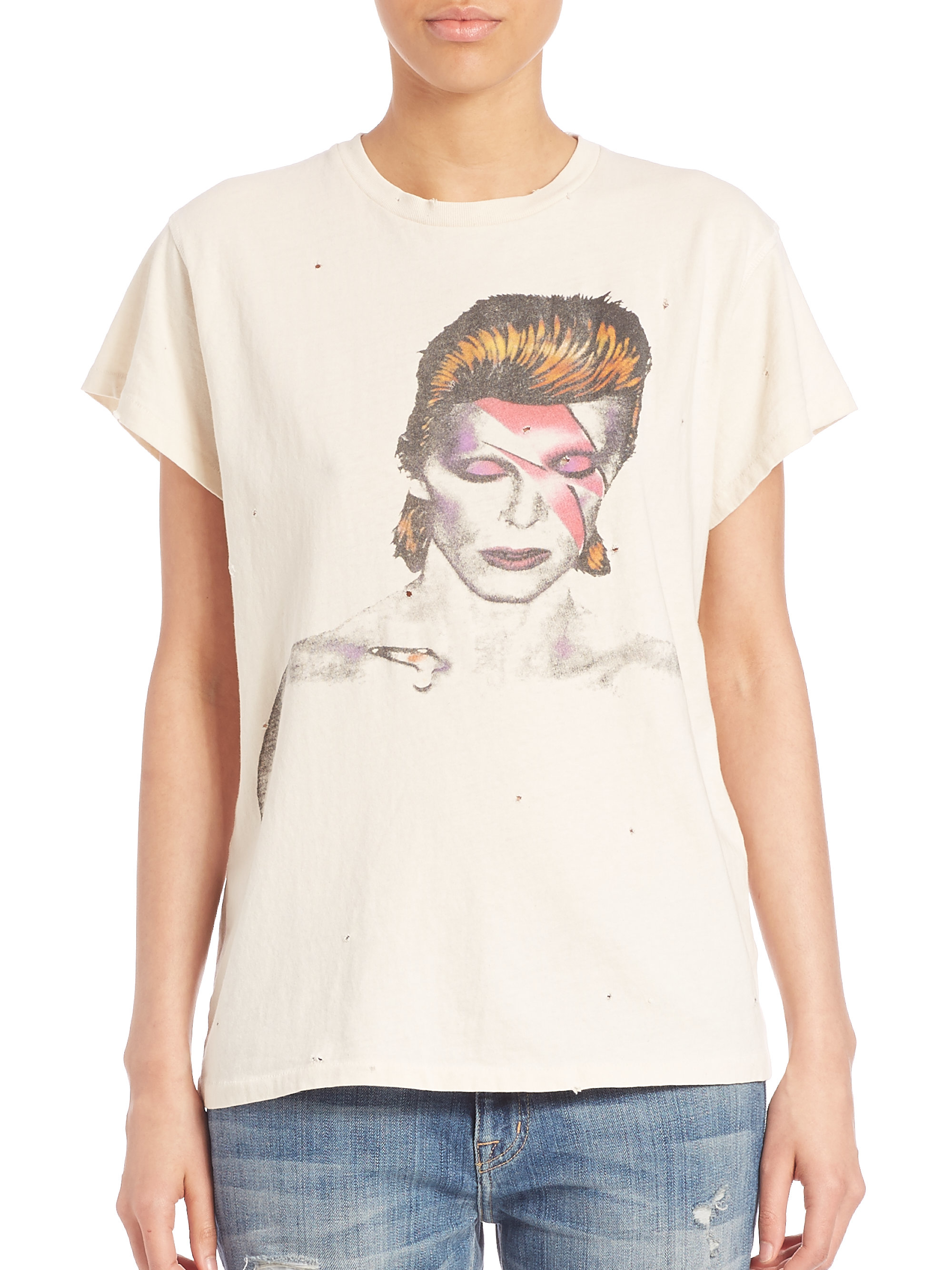d175d905a MadeWorn David Bowie Graphic Tee in White - Lyst