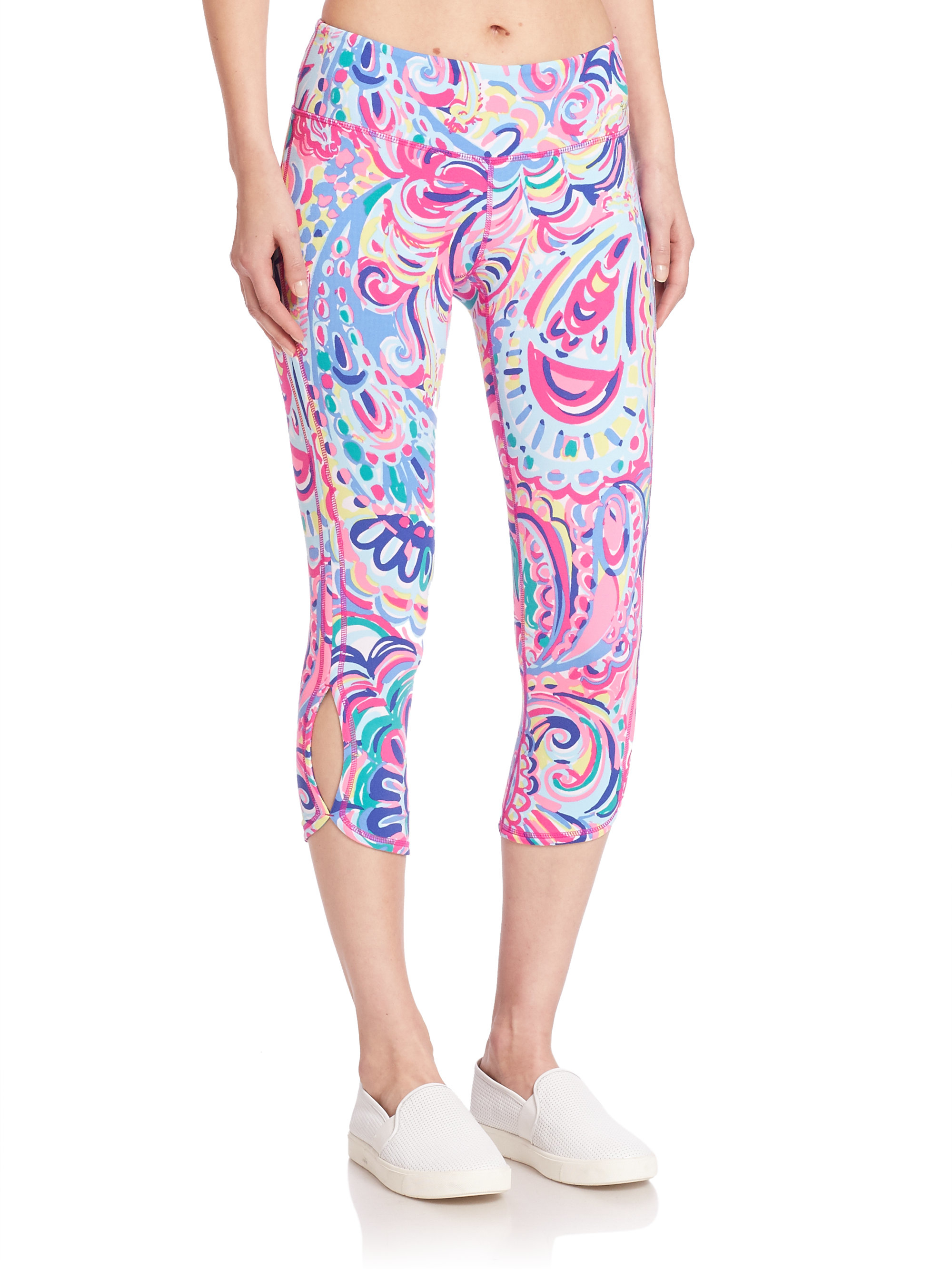 Lilly Pulitzer Luxletic Cropped Leggings In Black Lyst