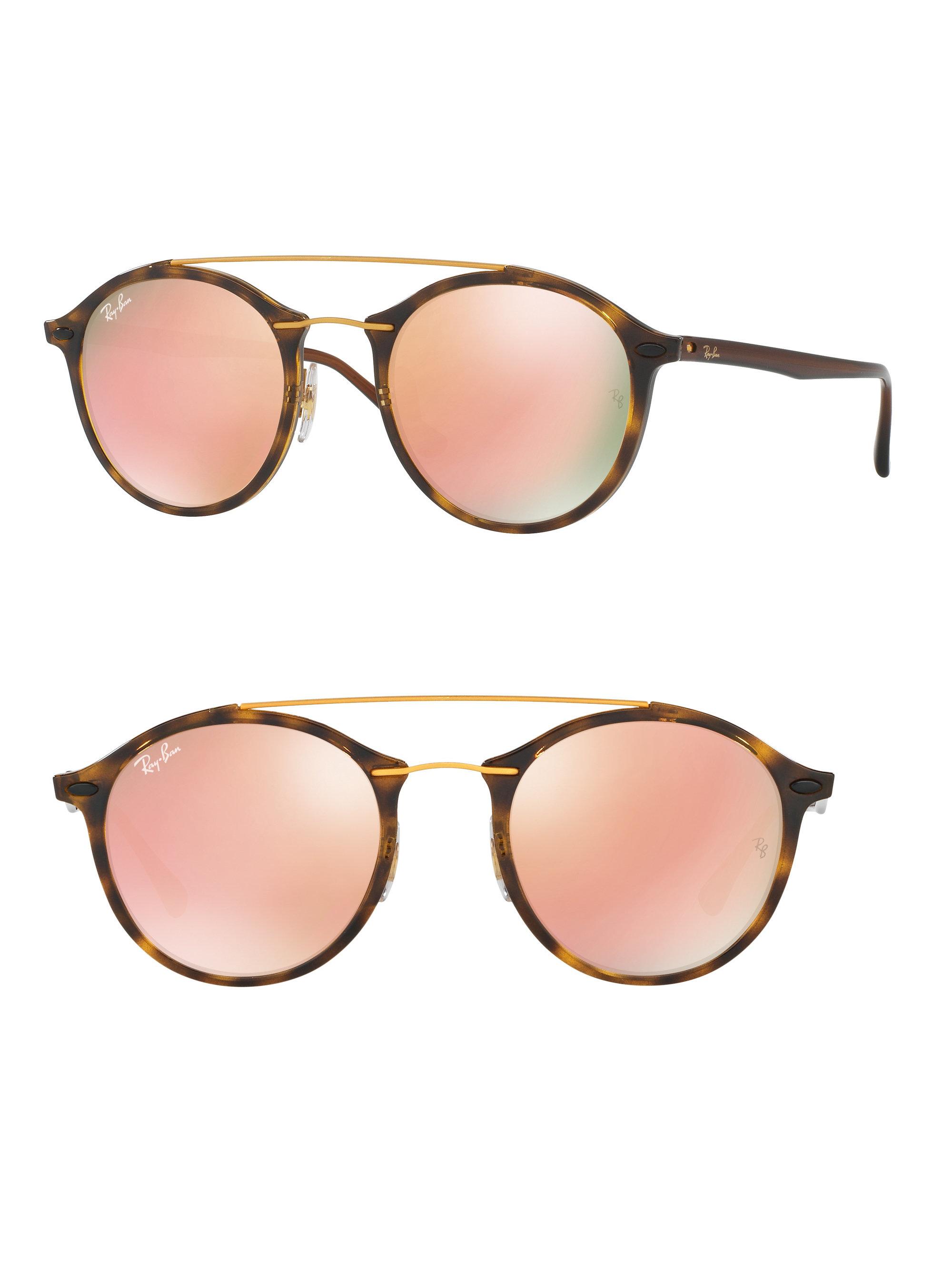 a71107e86e Ray-Ban Phantos Double-bridge Mirrored Sunglasses - Lyst