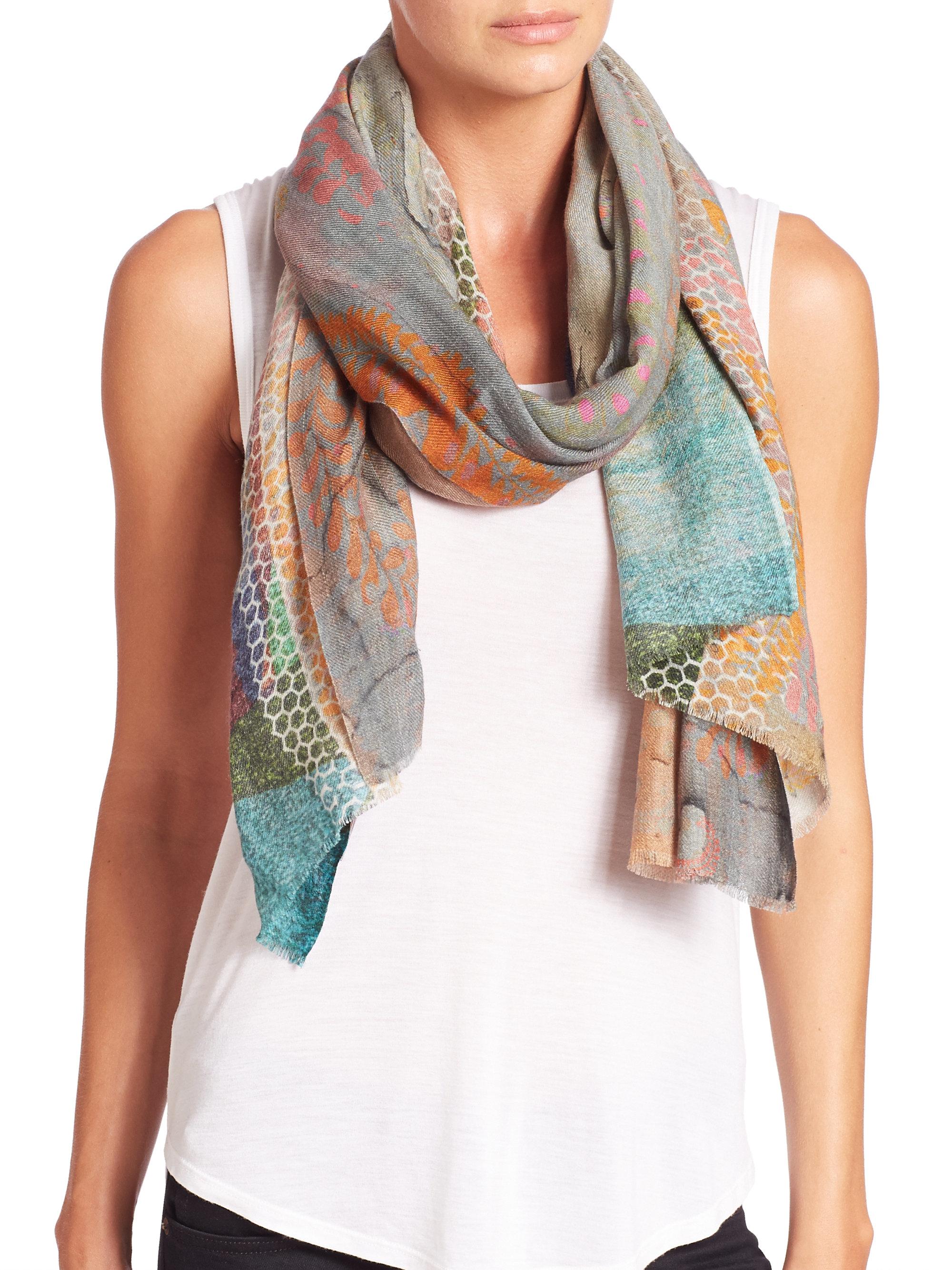 tilo mystic wool silk scarf lyst