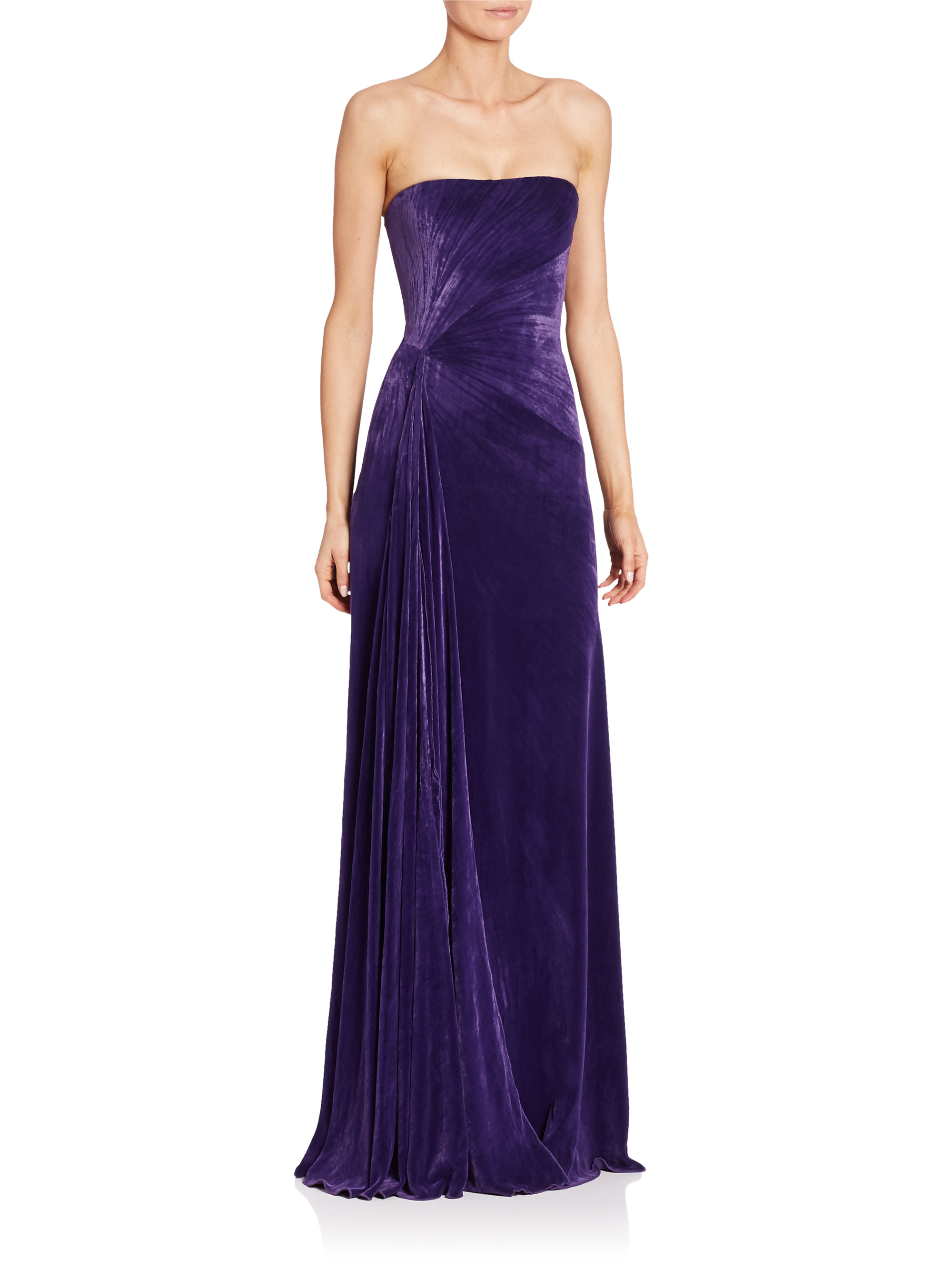 b1ba25cf154 Lyst ralph lauren collection kersten strapless velvet gown in purple jpg  2000x2667 Ralph lauren long strapless