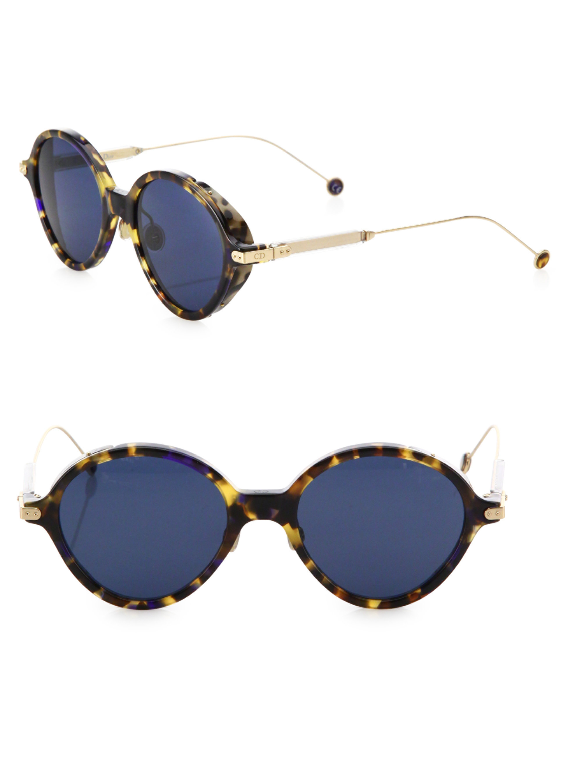85483b1766 Lyst - Dior Umbrage 52mm Oval Sunglasses in Blue