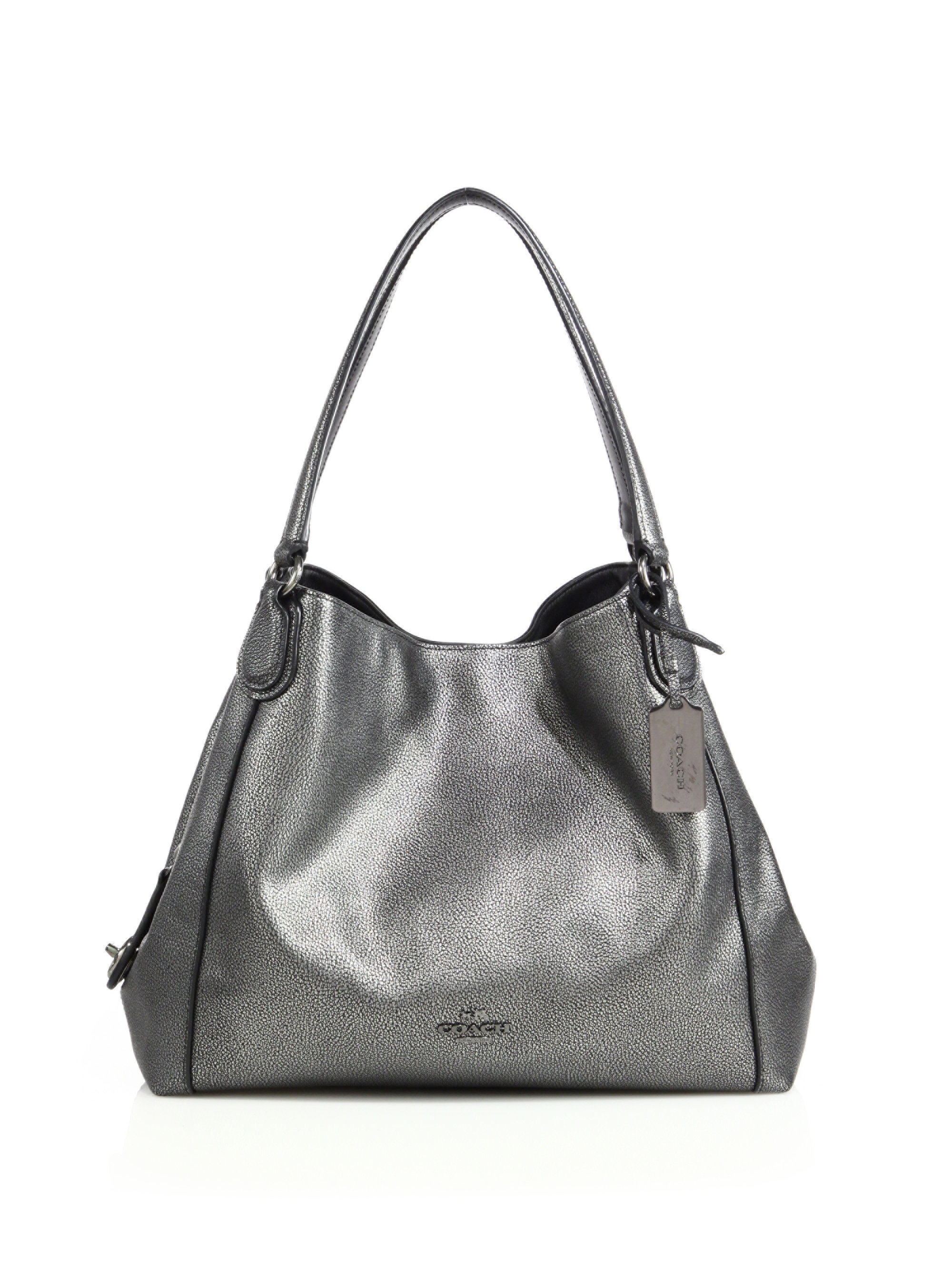 e057d37a942b8f Coach Edie Shoulder Bag In Metallic Leather | Stanford Center for ...