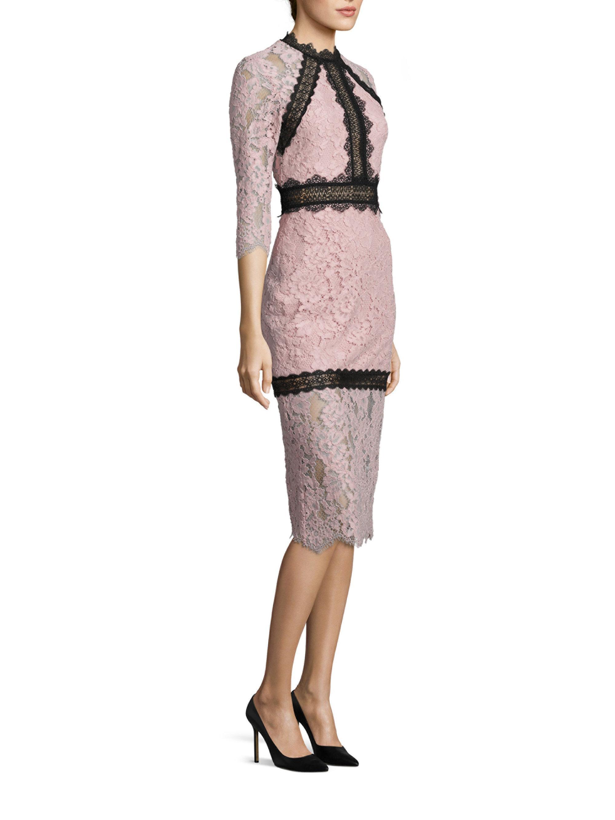 Alexis Marissa Lace Sheath Dress | Lyst