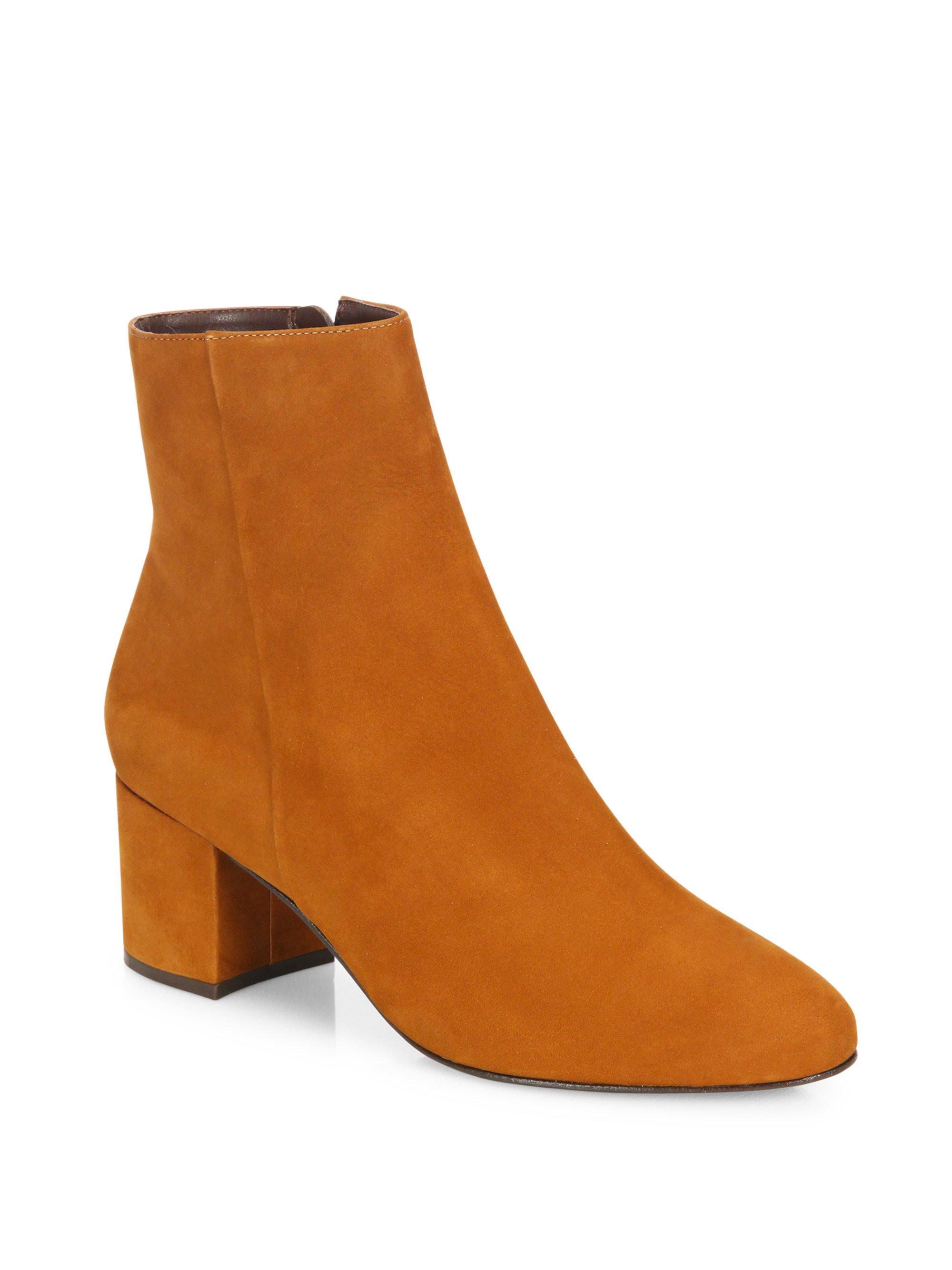 schutz suede ankle boots in brown lyst