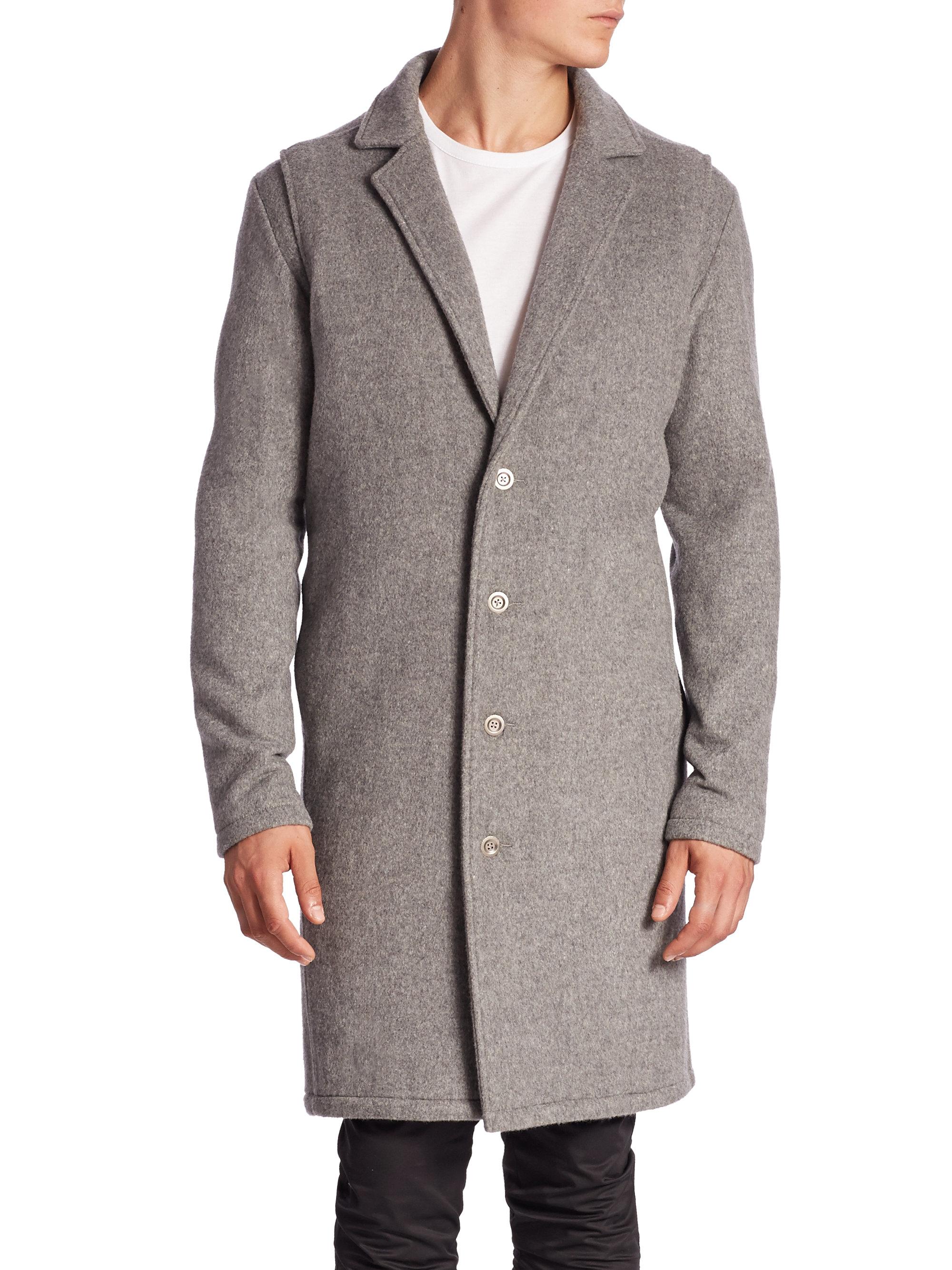 Zanerobe Melton Wool Coat in Blue for Men | Lyst