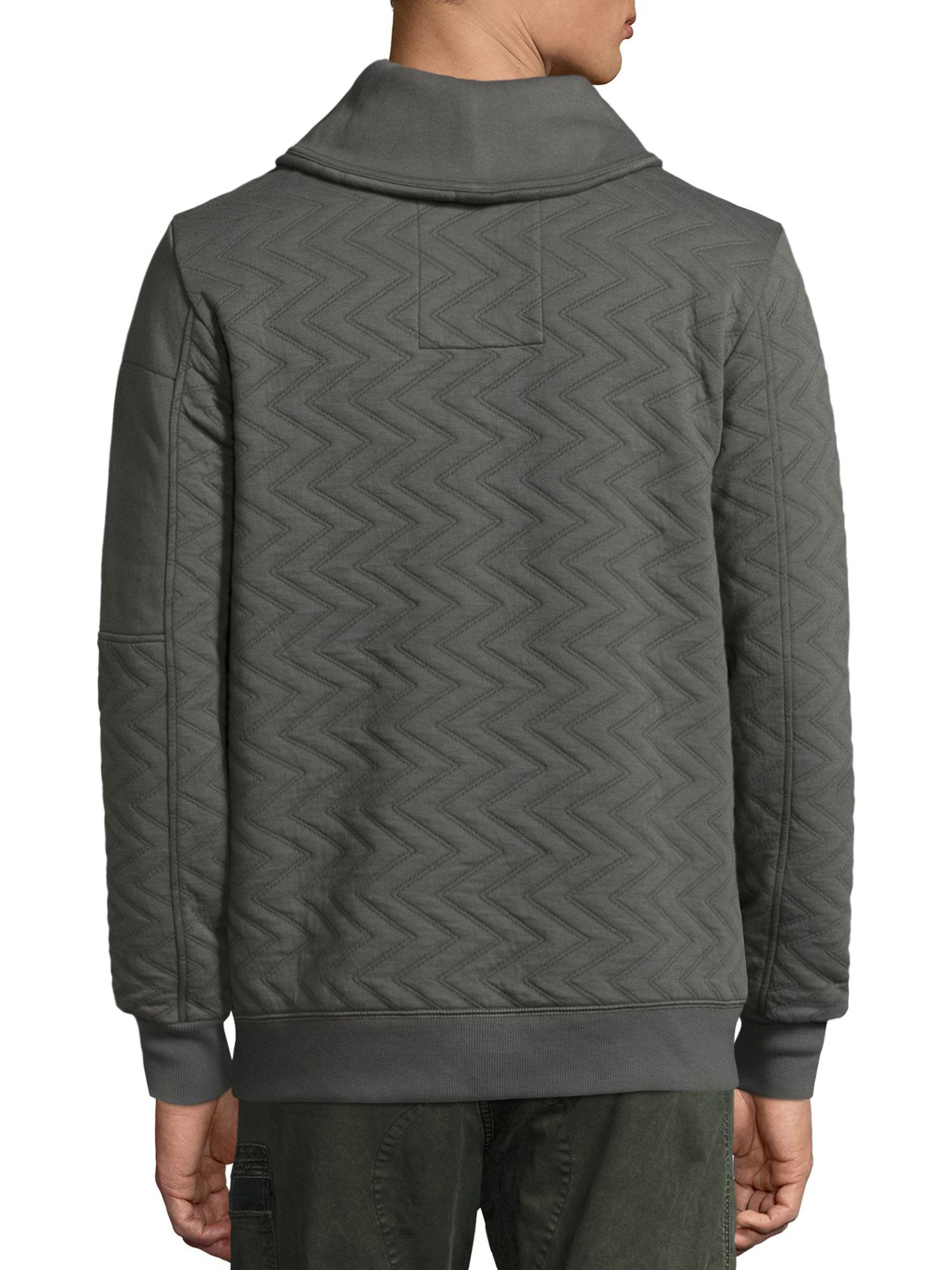 g star raw long sleeve chevron pullover in gray for men lyst. Black Bedroom Furniture Sets. Home Design Ideas