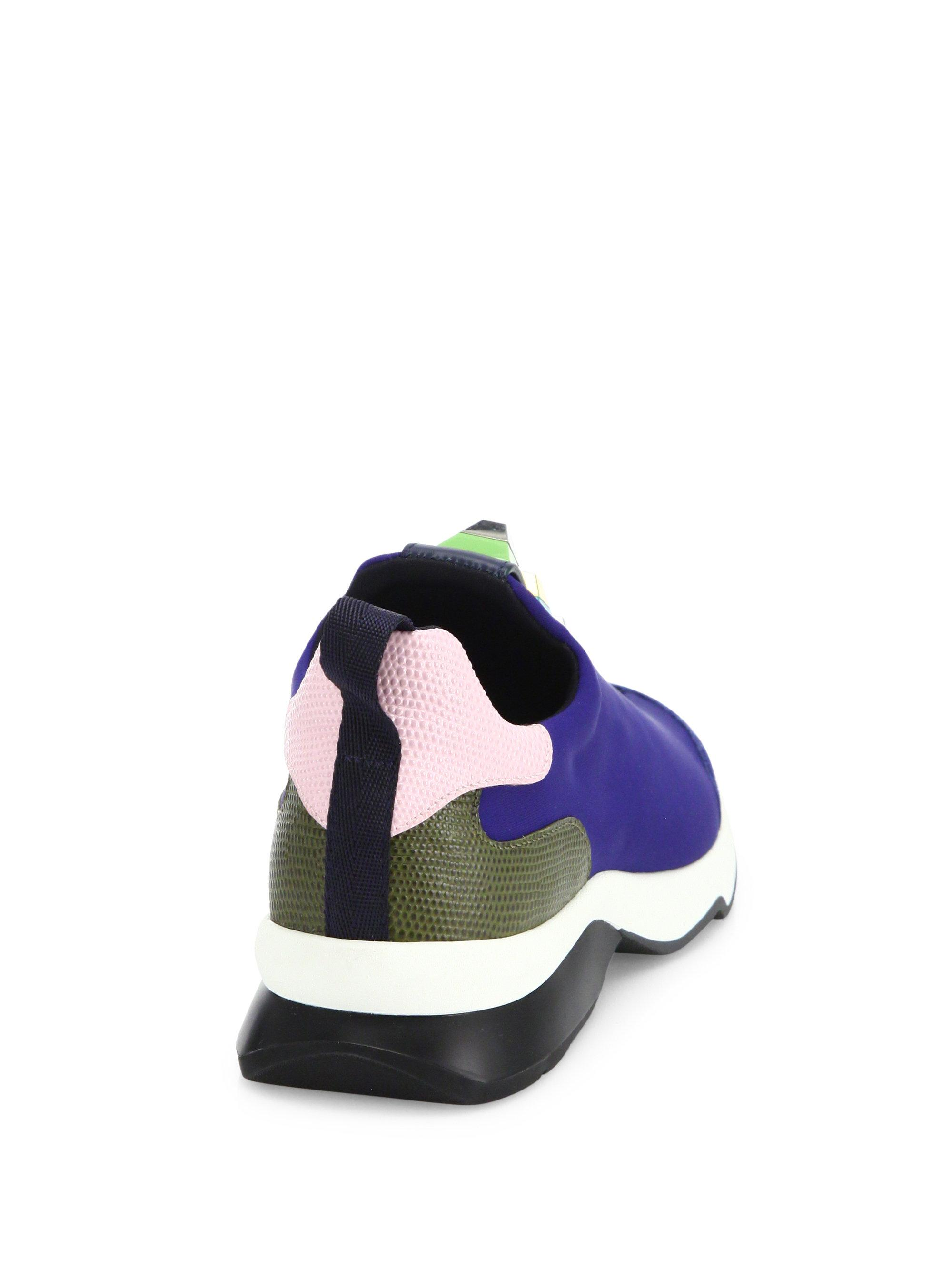 37d5518a3963 Lyst - Fendi Rainbow Studded Sneakers in Blue