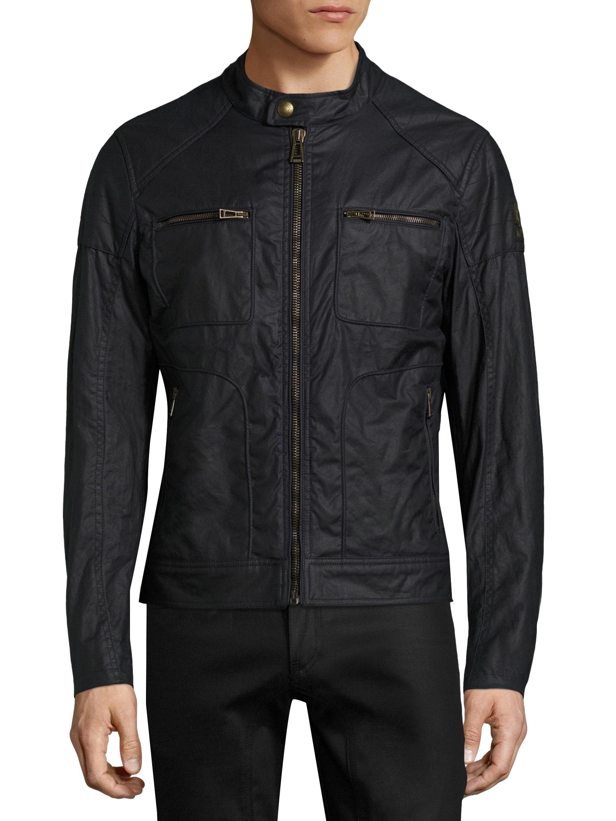 belstaff weybridge wax jacket in blue for men lyst. Black Bedroom Furniture Sets. Home Design Ideas