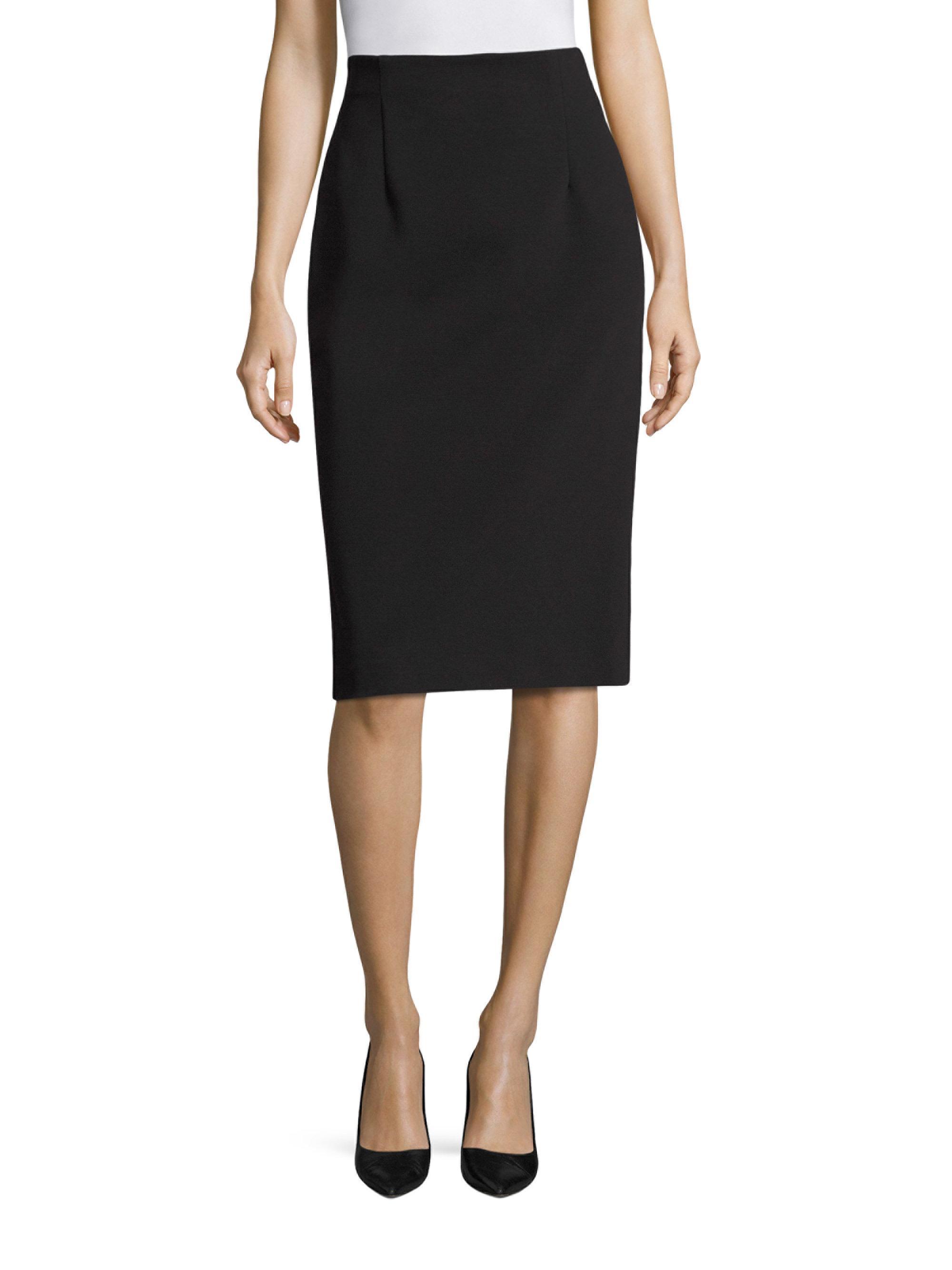 escada jersey pencil skirt in black lyst