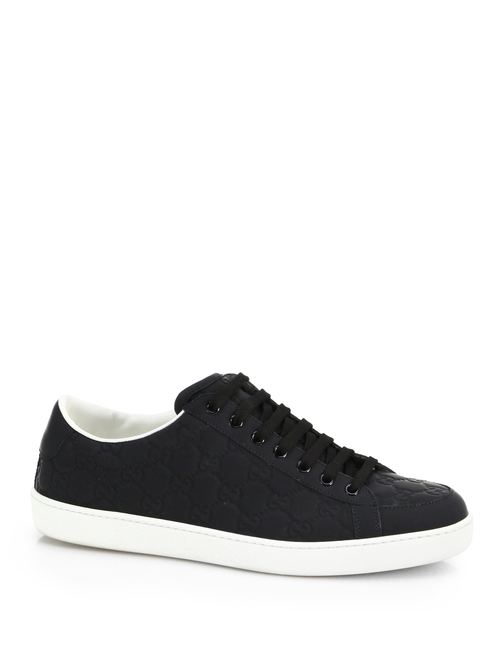 507be064294 Lyst - Gucci Brooklyn Gg Lace-up Sneakers in Black for Men