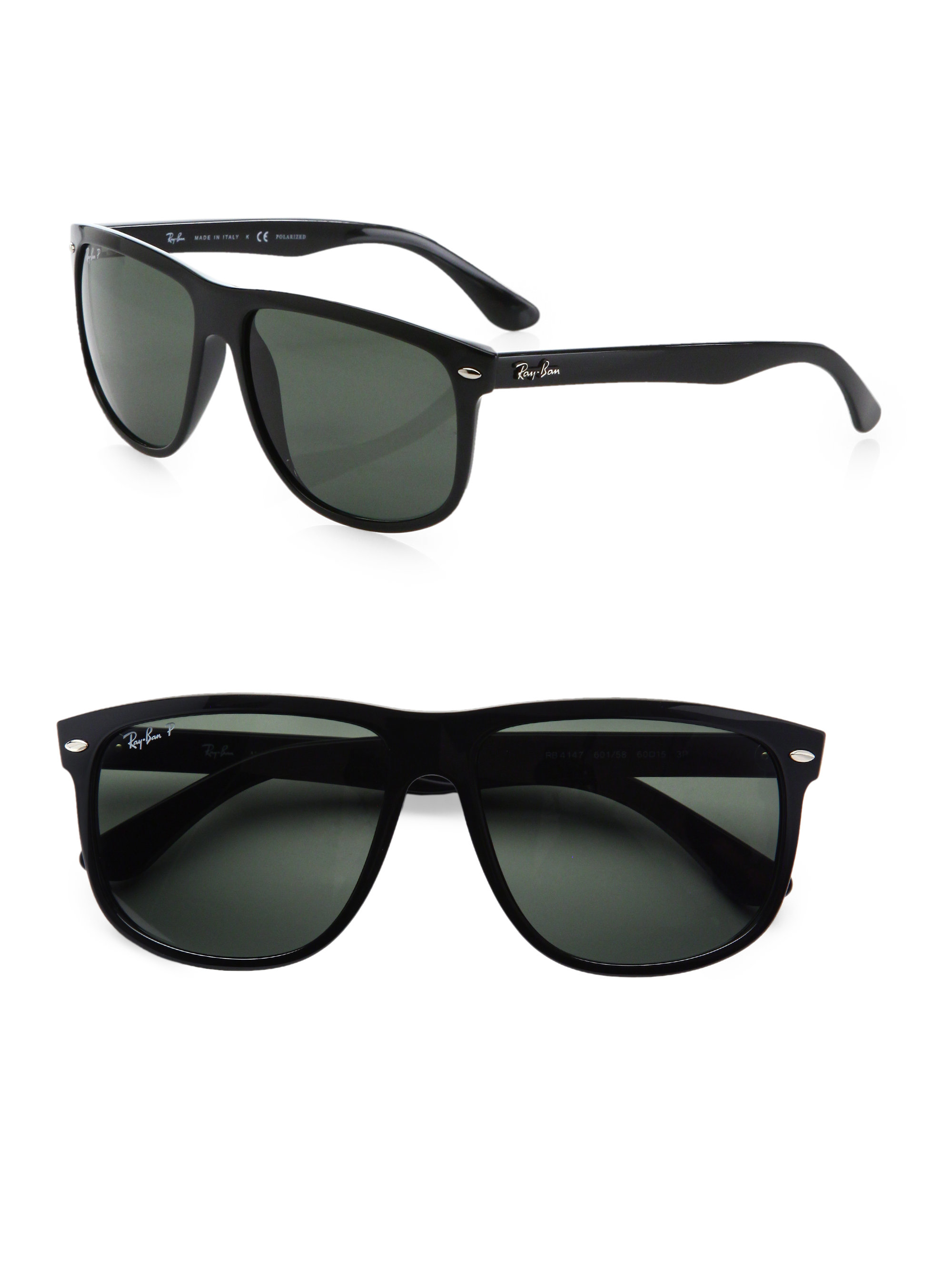 flat top sunglasses  Ray-ban Flat-top Boyfriend Wayfarer Sunglasses in Black for Men
