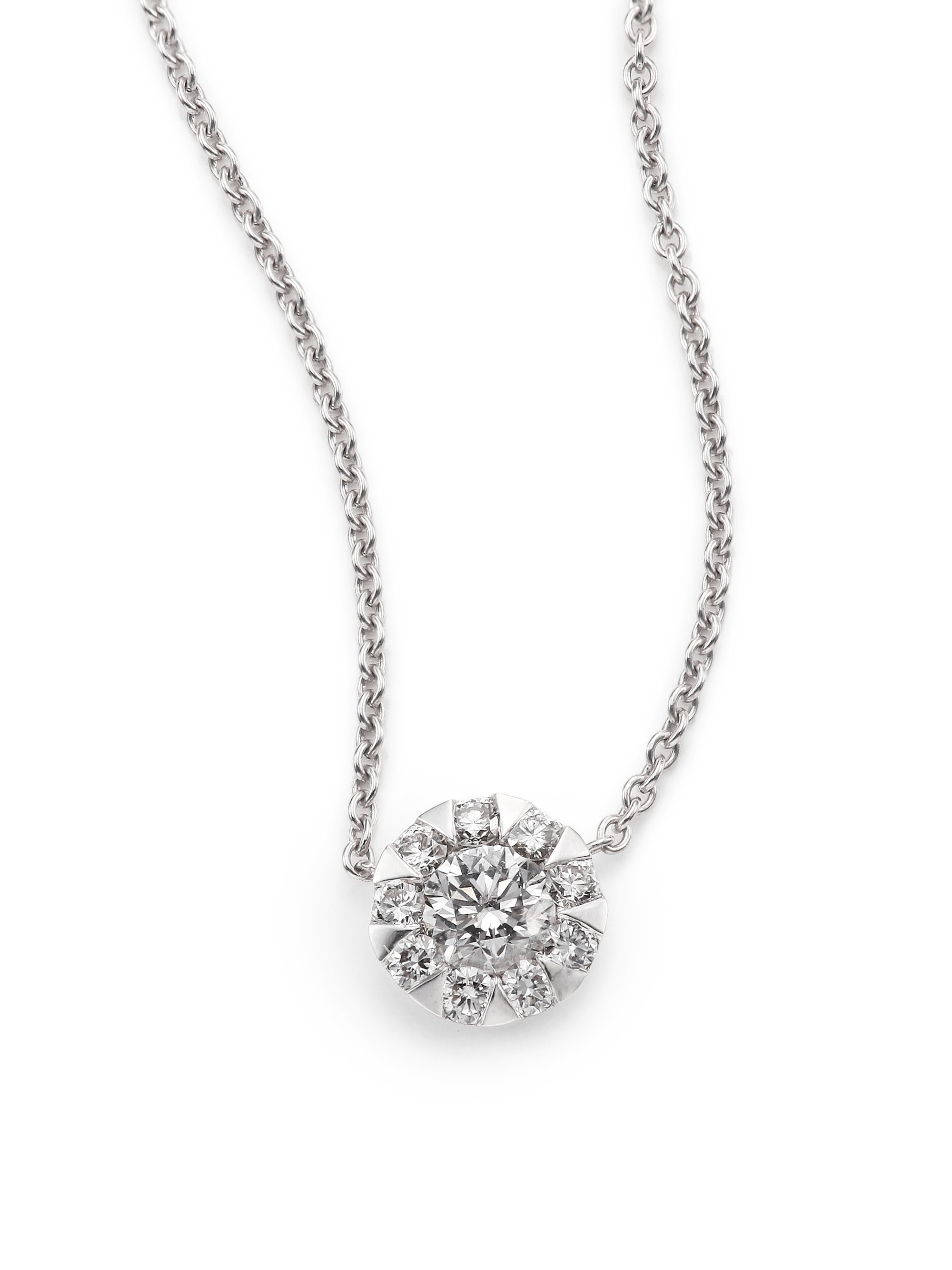 Lyst Kwiat Sunburst Diamond Amp 18k White Gold Pendant