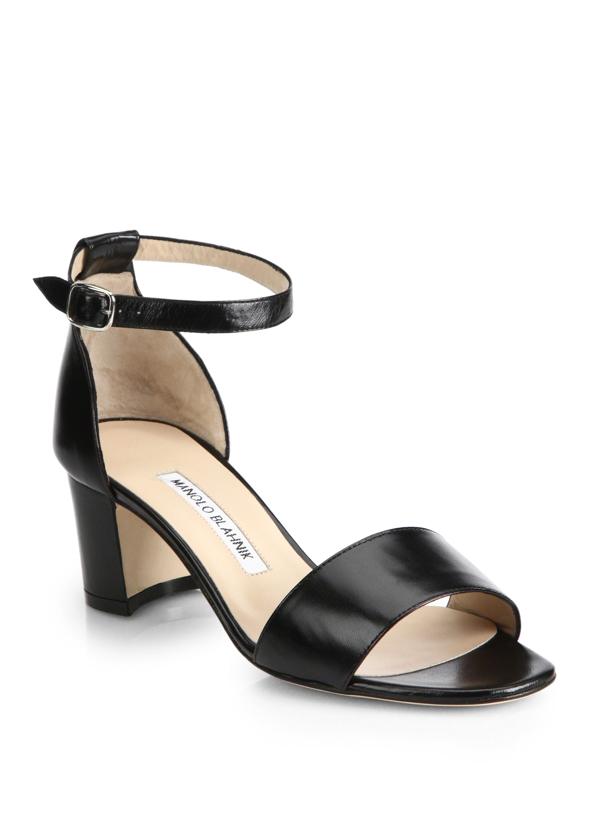 Manolo Blahnik Lauratom Ankle Strap Sandals discount genuine 2014 cheap sale cheap sale manchester great sale t00mOV1kSS