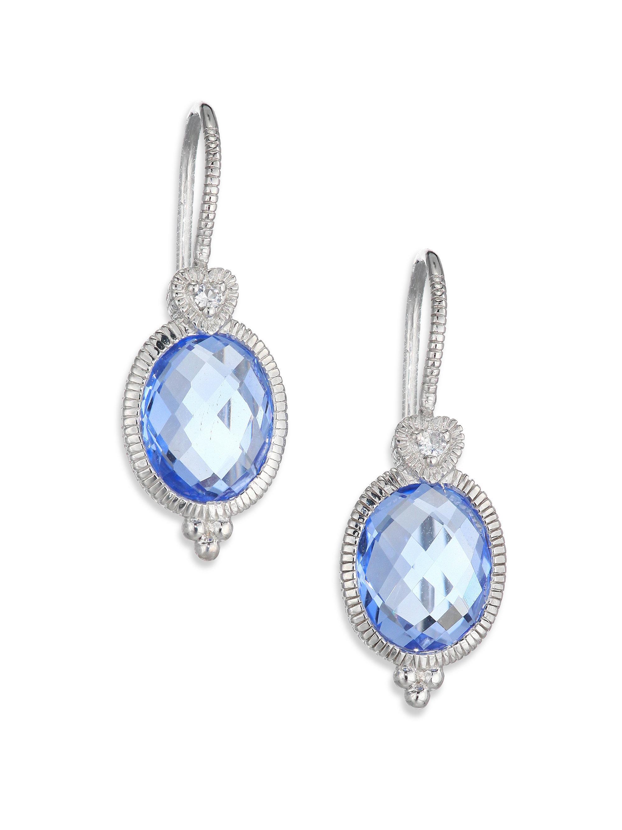 Lyst Judith Ripka La Petite Blue Quartz White Sapphire