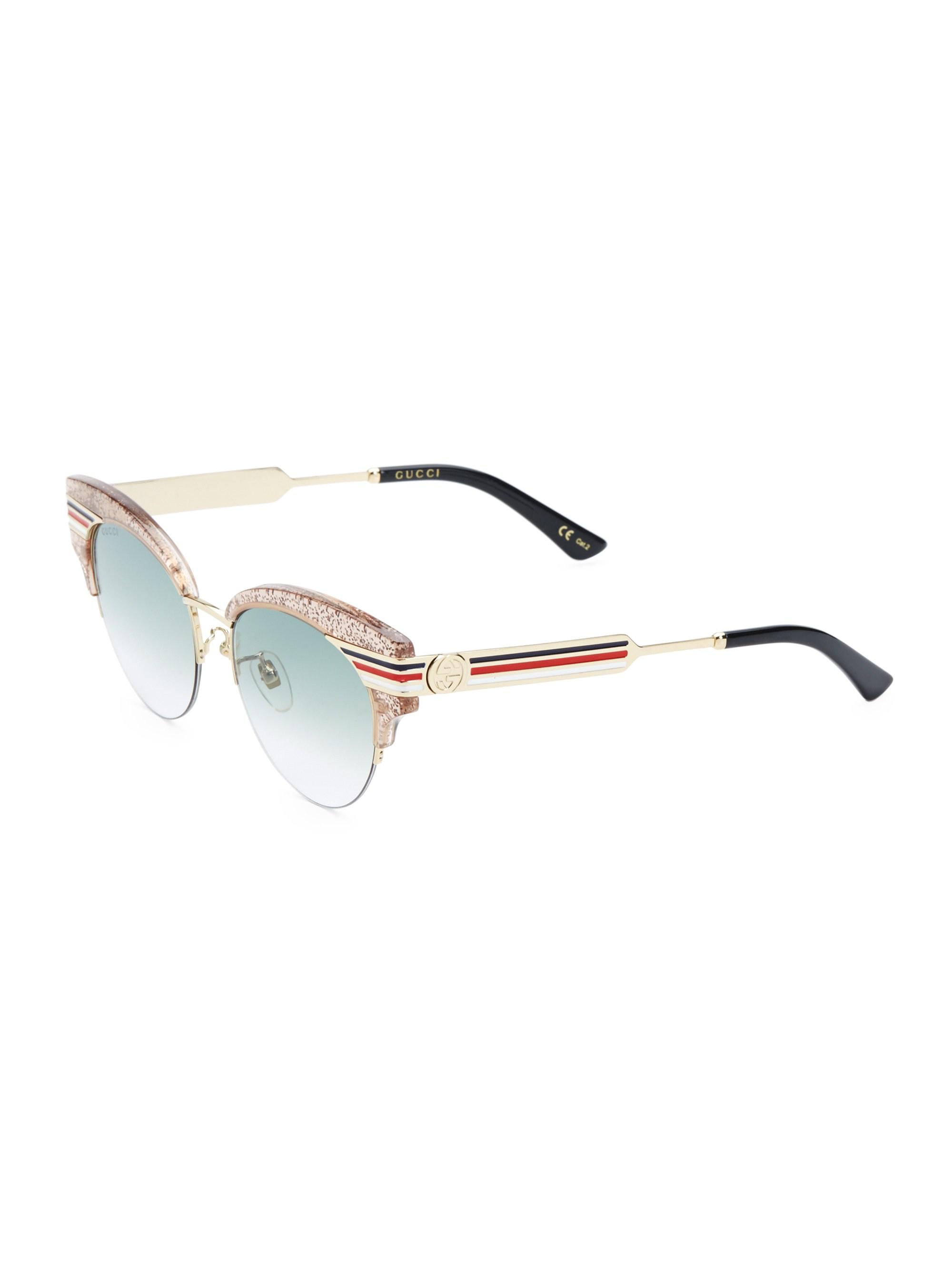 504be56973825 Gucci - Multicolor Women s 53mm Cat Eye Sunglasses - Nude - Lyst. View  fullscreen