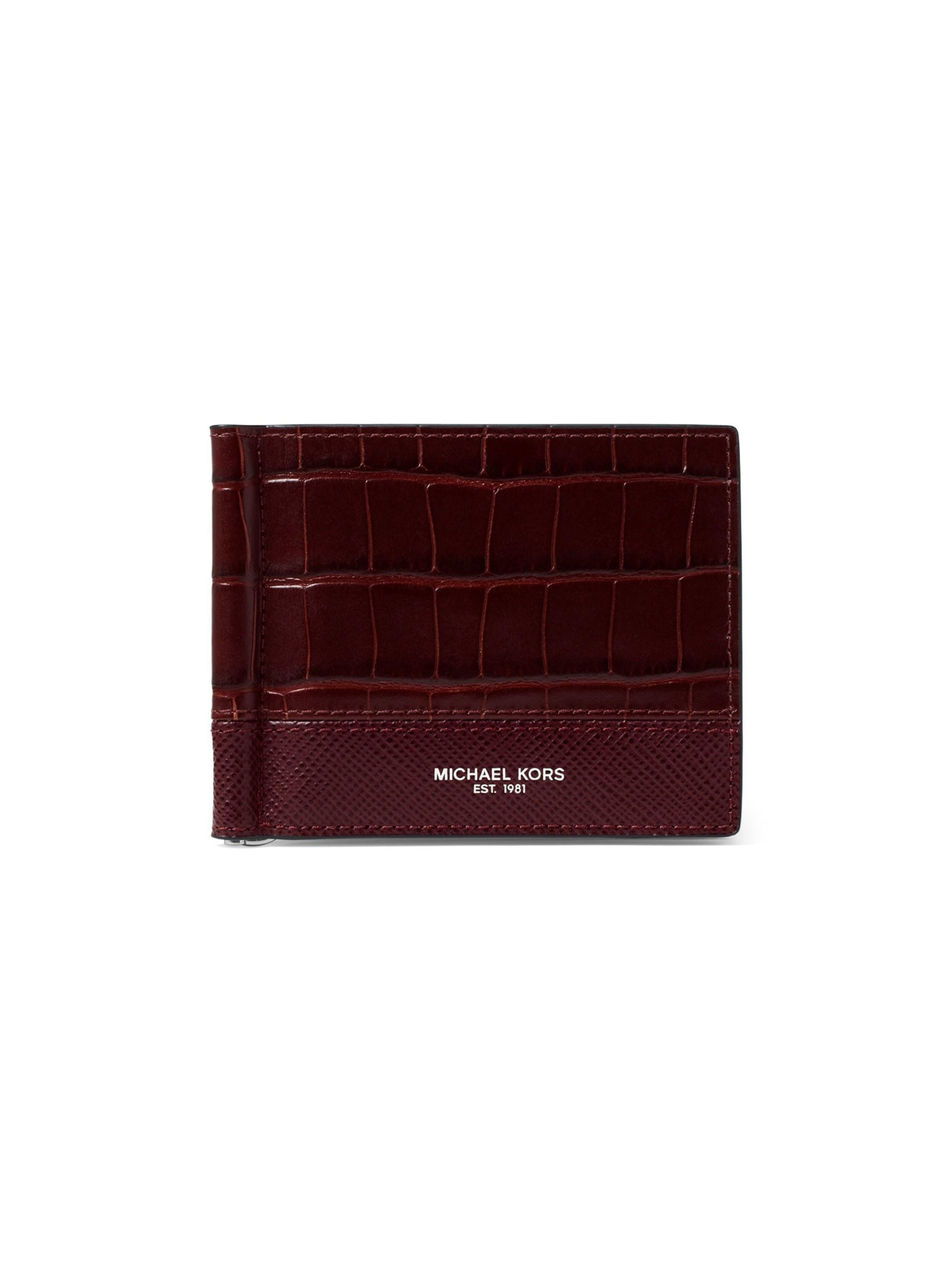67b940b8c8aa Lyst - Michael Kors Men s Harrison Croc-embossed Leather Money Clip ...