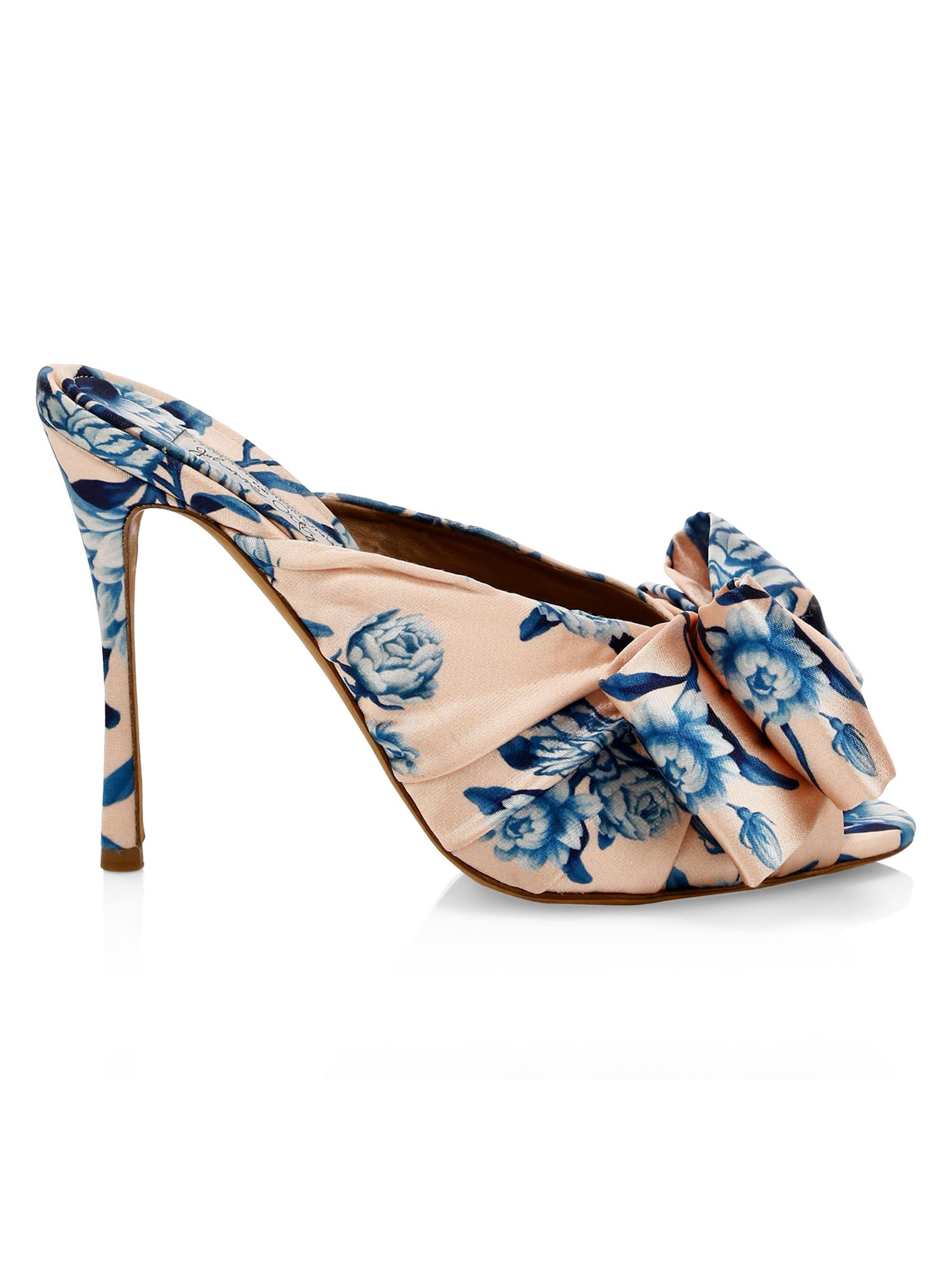 4d37093f6a0 Tabitha Simmons X Johanna Ortiz Lollie Silk Mules in Blue - Lyst