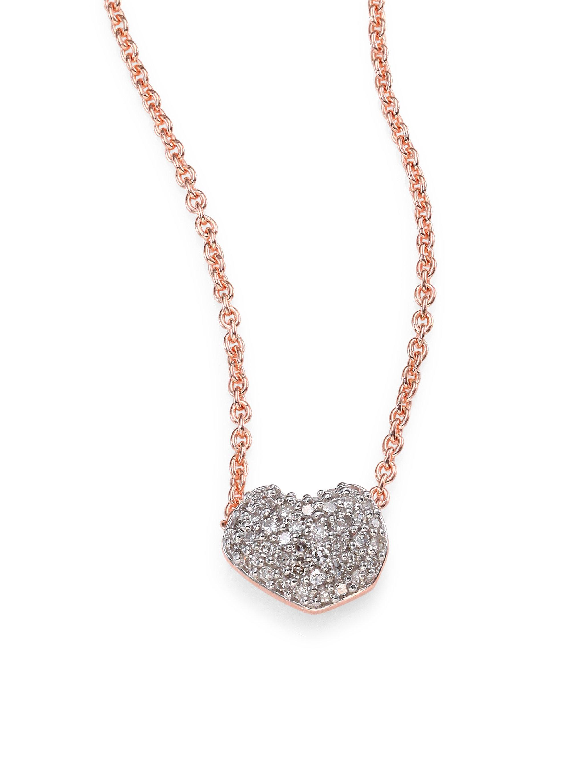 diamond rose m gold white mini products necklace monroe whisper heart