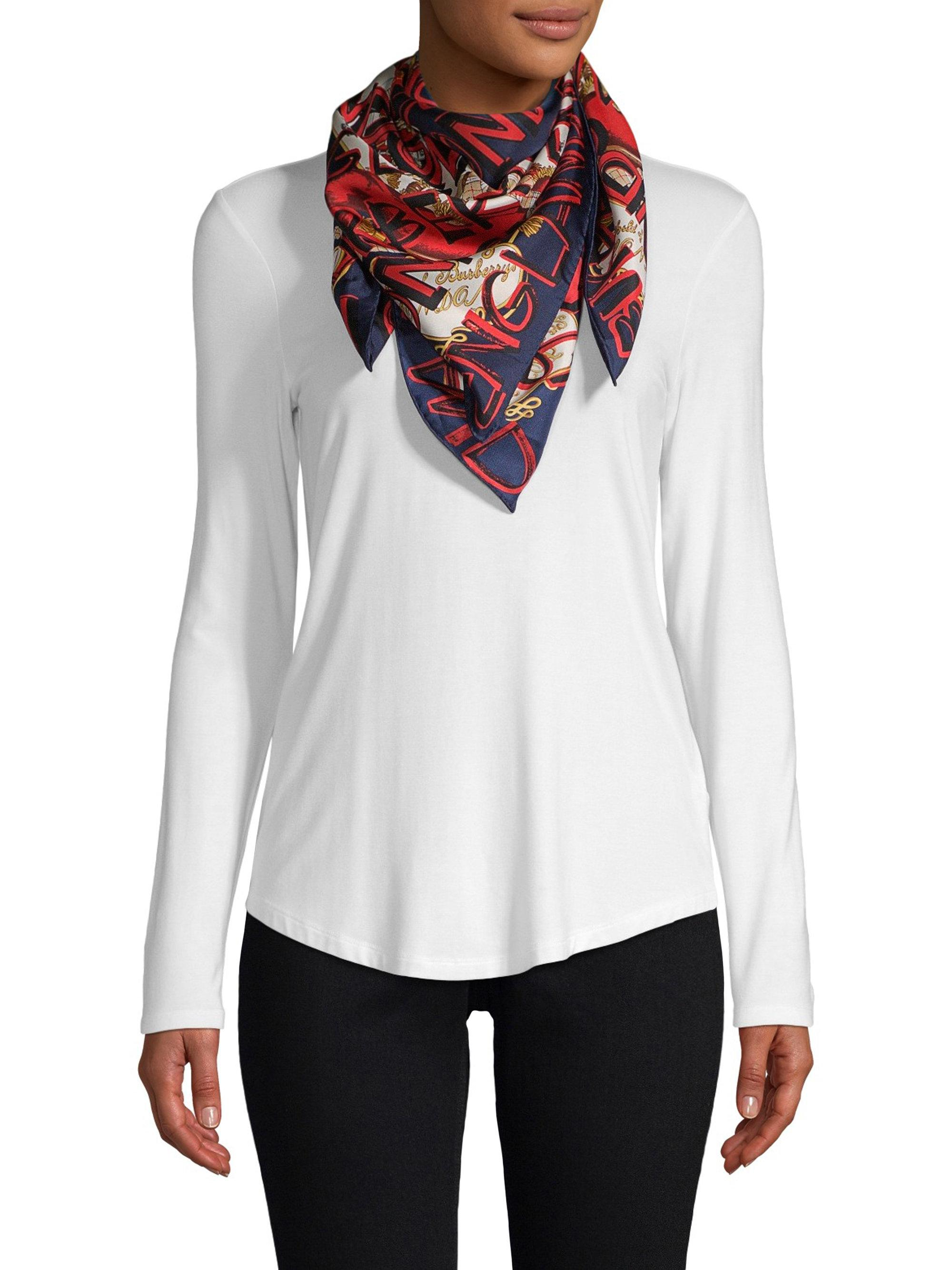 Very Cheap Sale Online Clearance Find Great Archive Print scarf - Blue Burberry RVGCH3