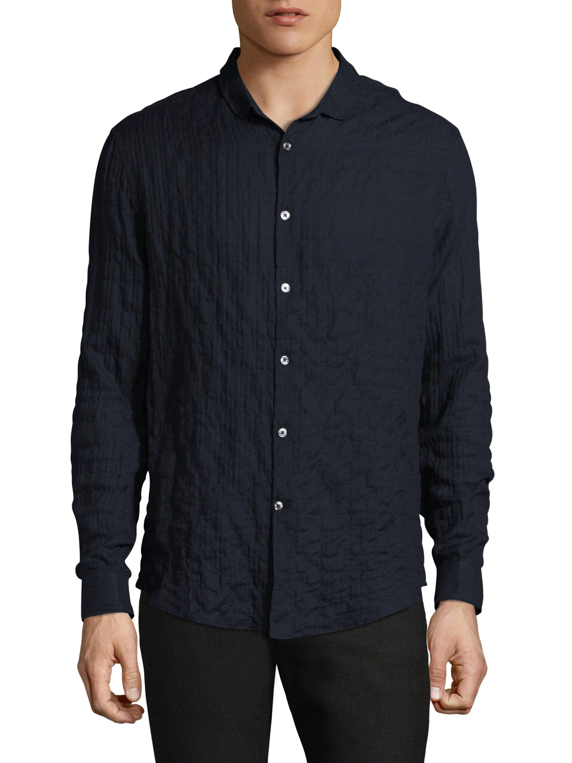 Lyst - John varvatos Slim-fit Wrinkled Casual Button-down Shirt in ...