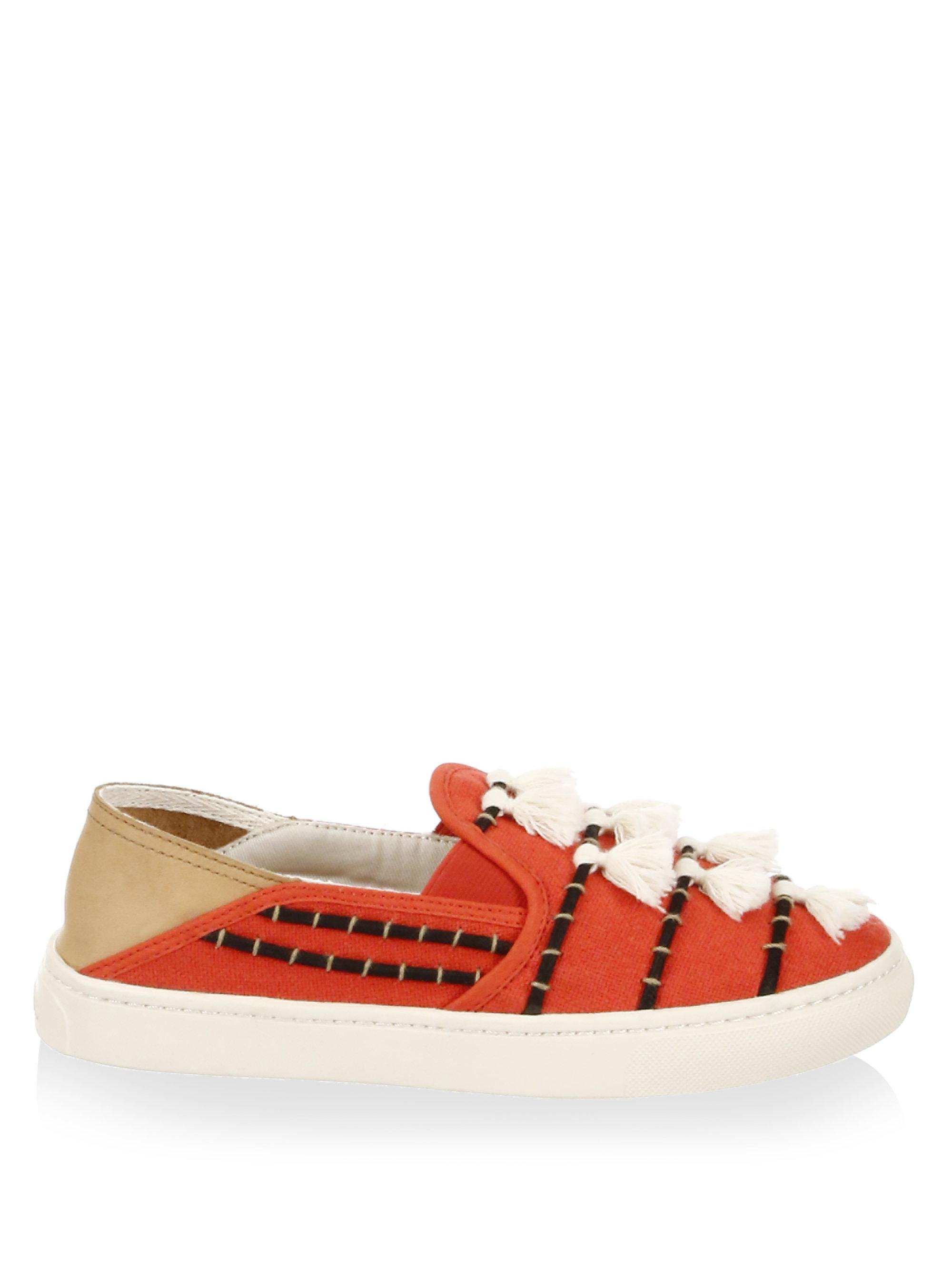 Soludos Tassel Cotton Canvas Slip-On Sneakers 7f1AGK