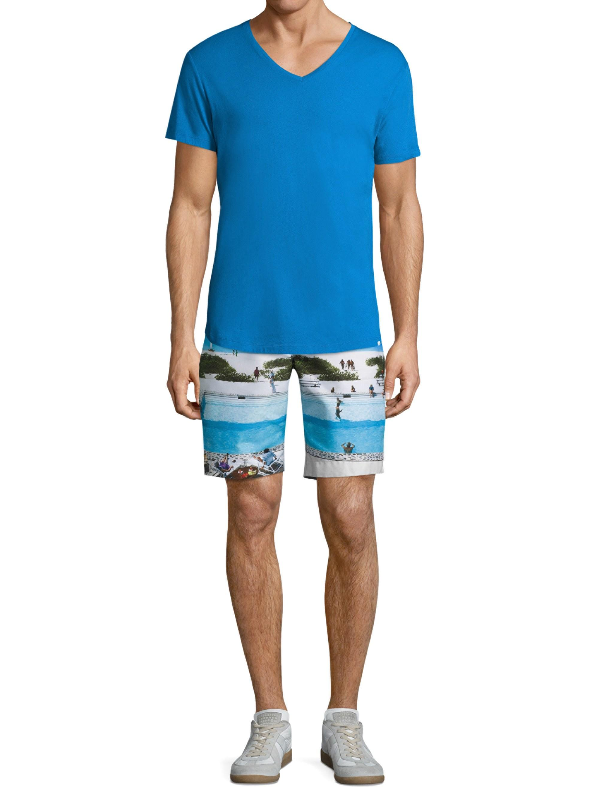 04c318a2cf Orlebar Brown Men's Dane Ii Pine Va-cay Longest-length Swim Trunks ...
