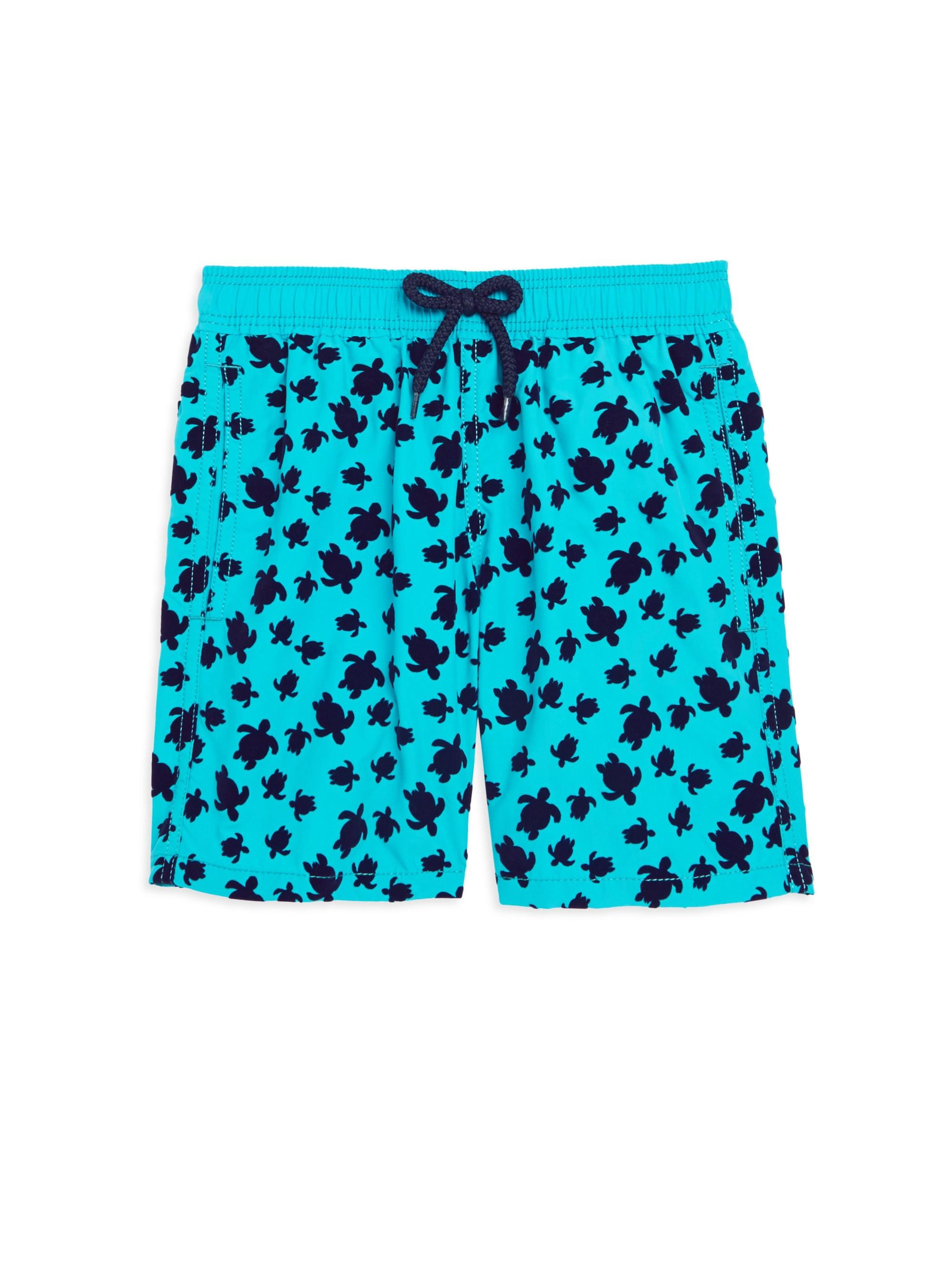 b8ea4aa5ce Vilebrequin Moorea Turtle Flocked Swim Shorts in Blue for Men - Save ...