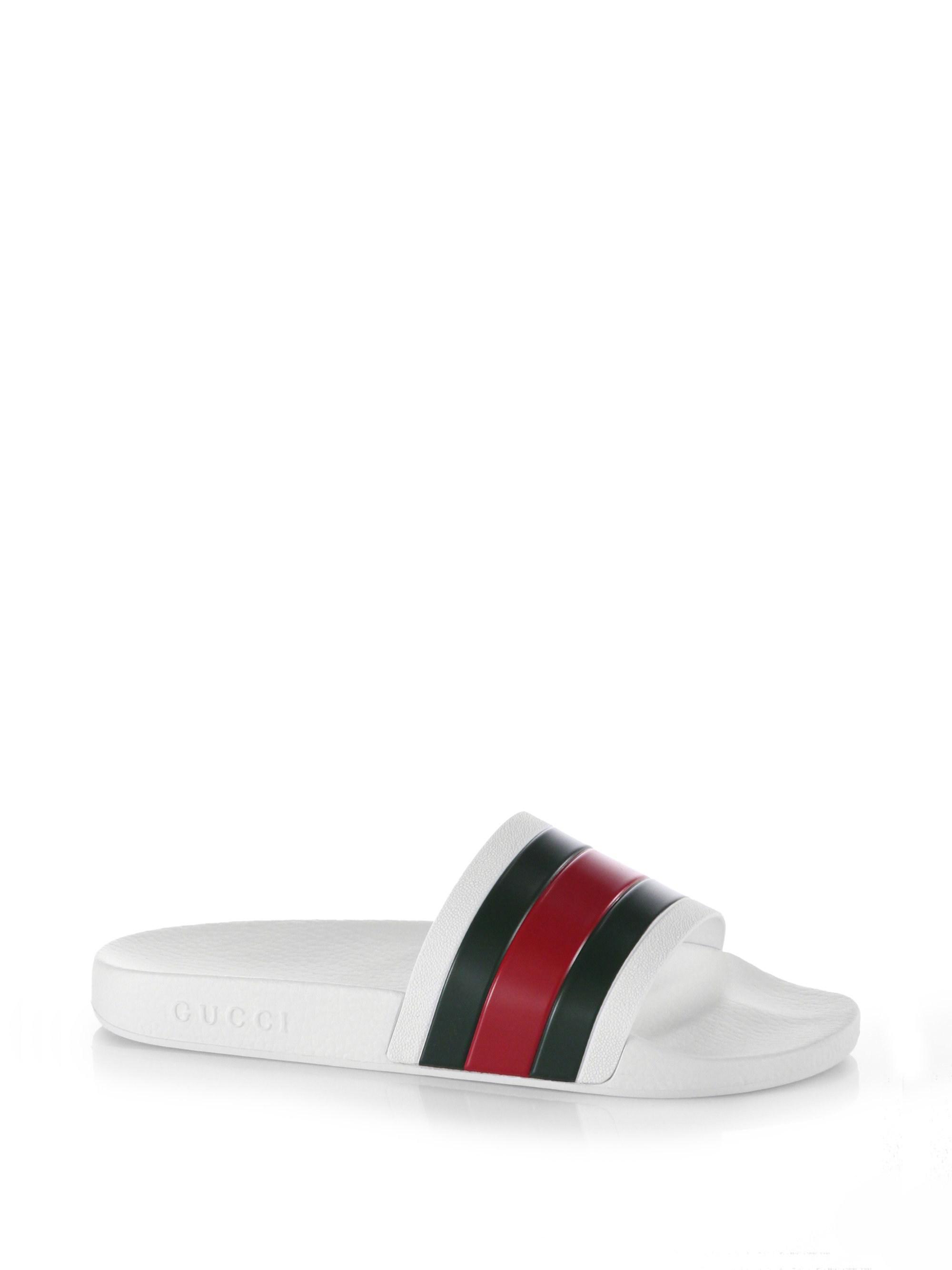 95dfea010da58 Gucci White Pursuit Slides in White for Men - Save 16% - Lyst