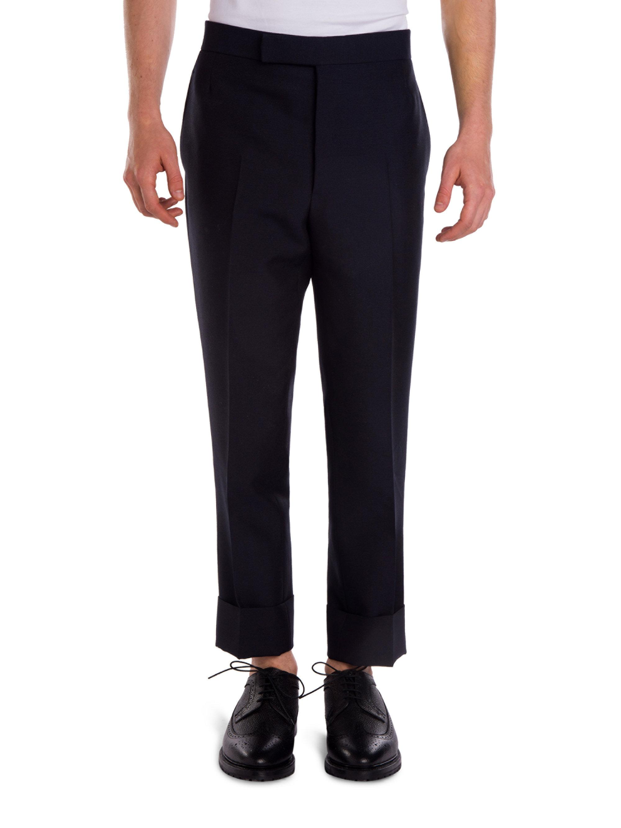 Black Slim-fit Glittered Grosgrain-trimmed Wool And Mohair-blend Tuxedo Trousers Lanvin yDd5c