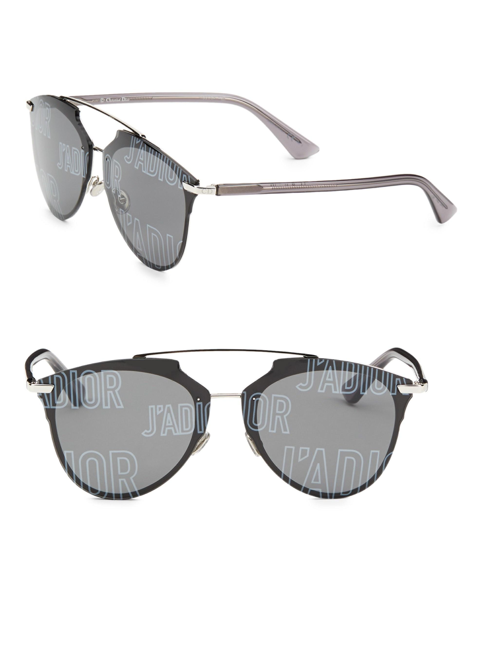 b98c1b00ba Dior. Gray Women s Reflected Prism 63mm Mirrored Modified Pantos Sunglasses  - Blue
