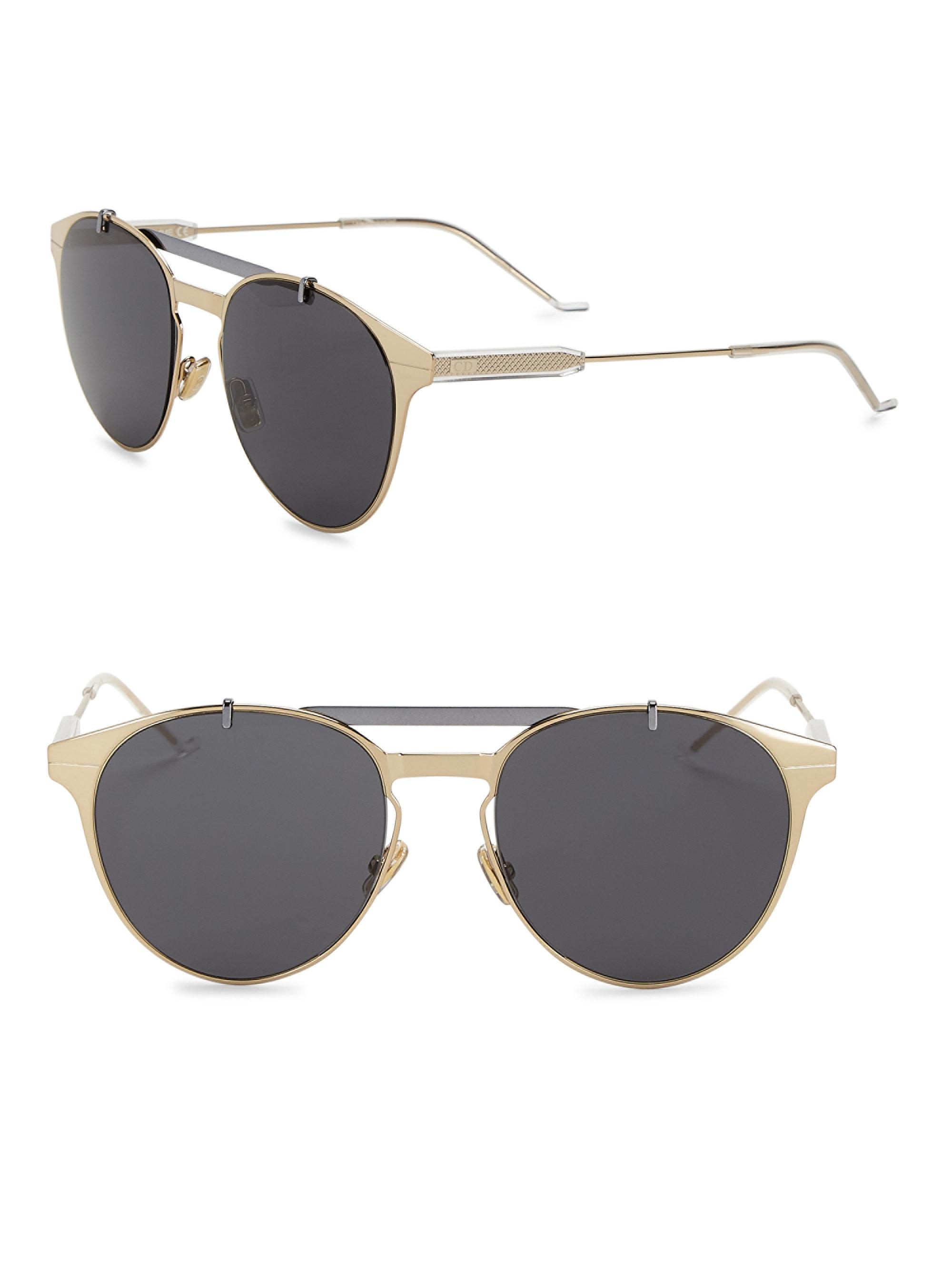 3586728ef0e Lyst - Dior Homme Dior Motion1 53mm Aviator Sunglasses in Metallic ...