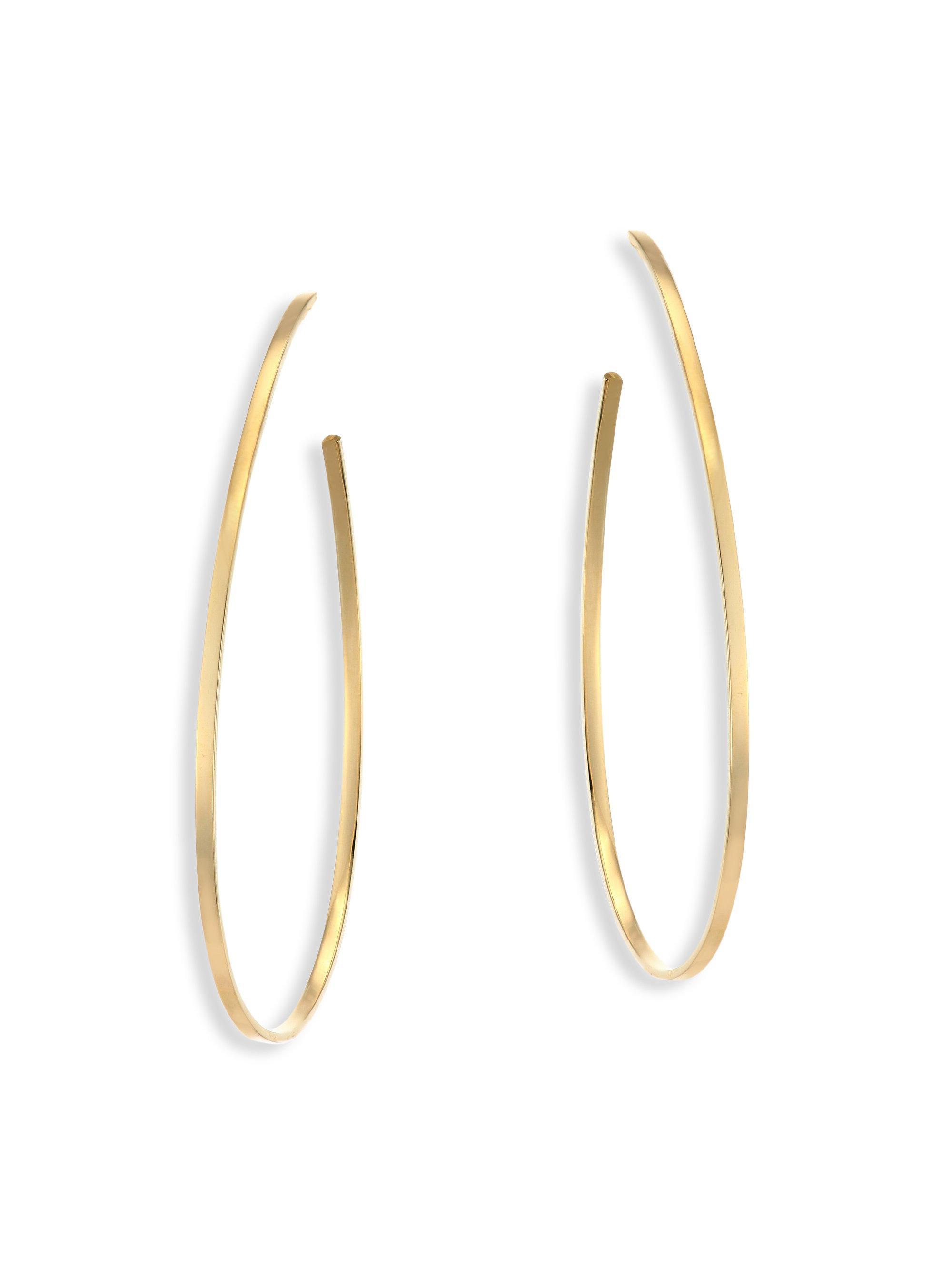 Lana Jewelry Large Bond Hoop Drop Earrings UE3GjEq