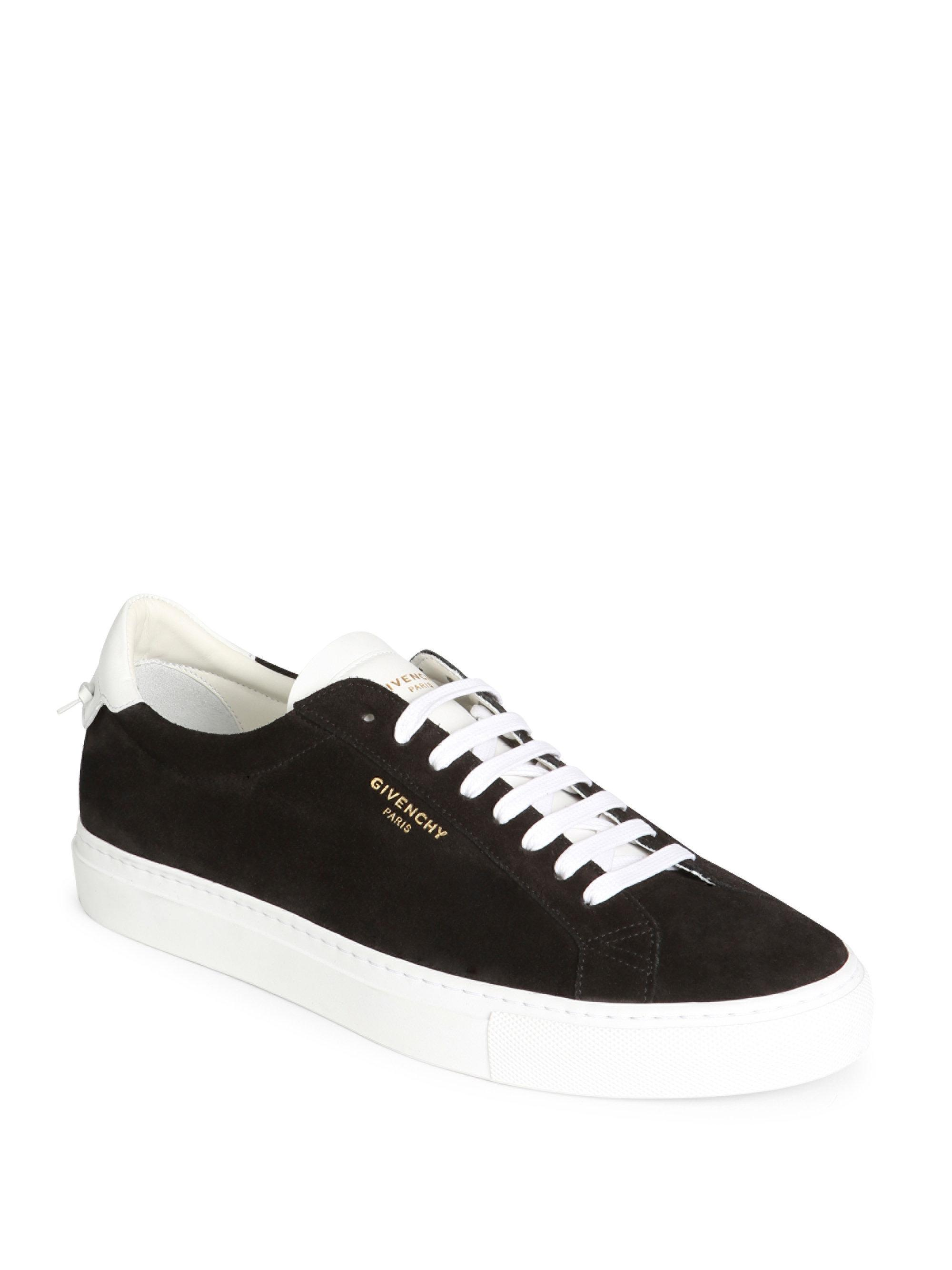 4103b2a07cd Lyst - Givenchy Urban Low Suede Sneakers in Black for Men