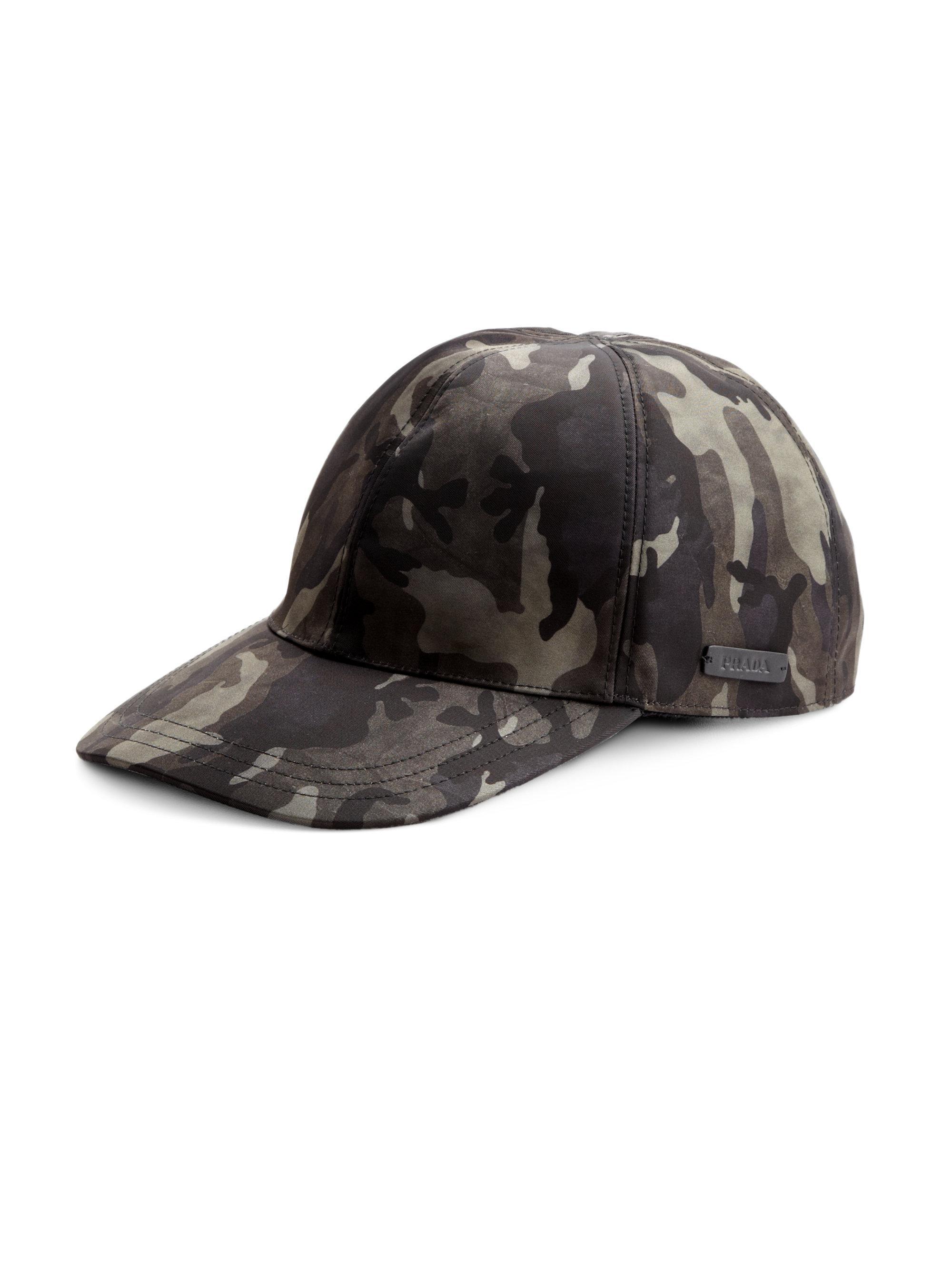 Lyst - Prada Tessuto Camouflage Baseball Cap in Gray for Men 098def4d494e
