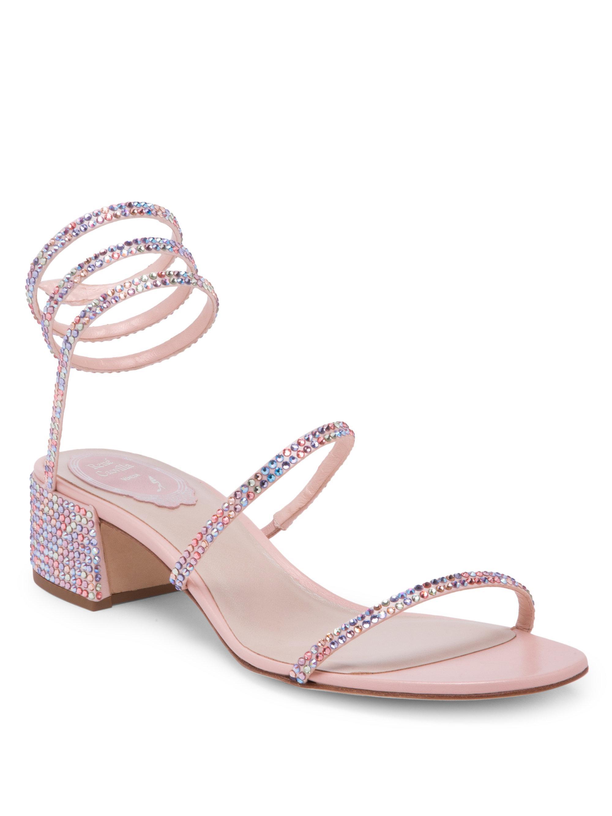 ankle strap sandals - Pink & Purple Rene Caovilla ZaaopPT5