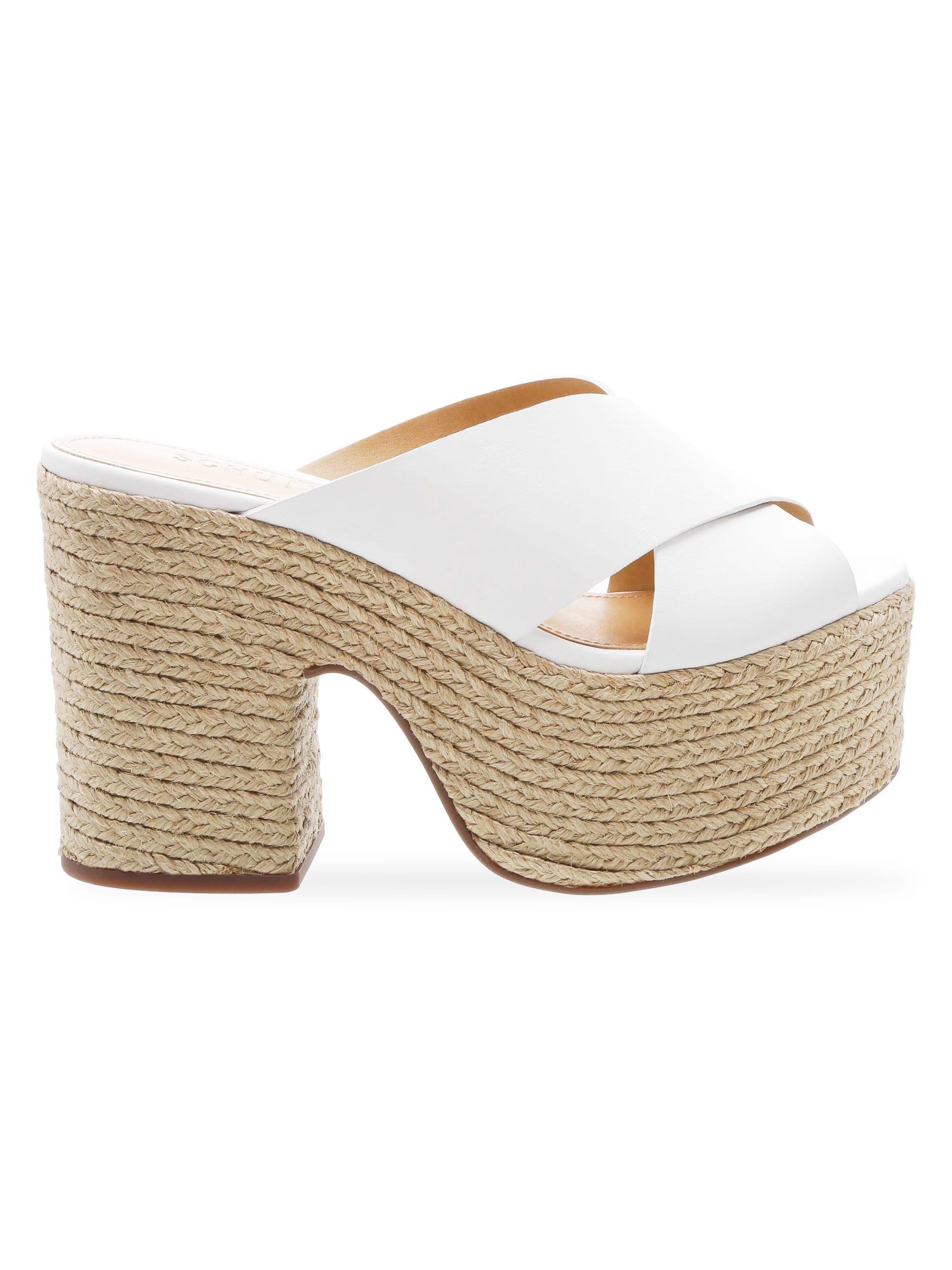 4a29f344676 Lyst - Schutz Women s Lora Braided Platform Wedge Sandals - White in ...