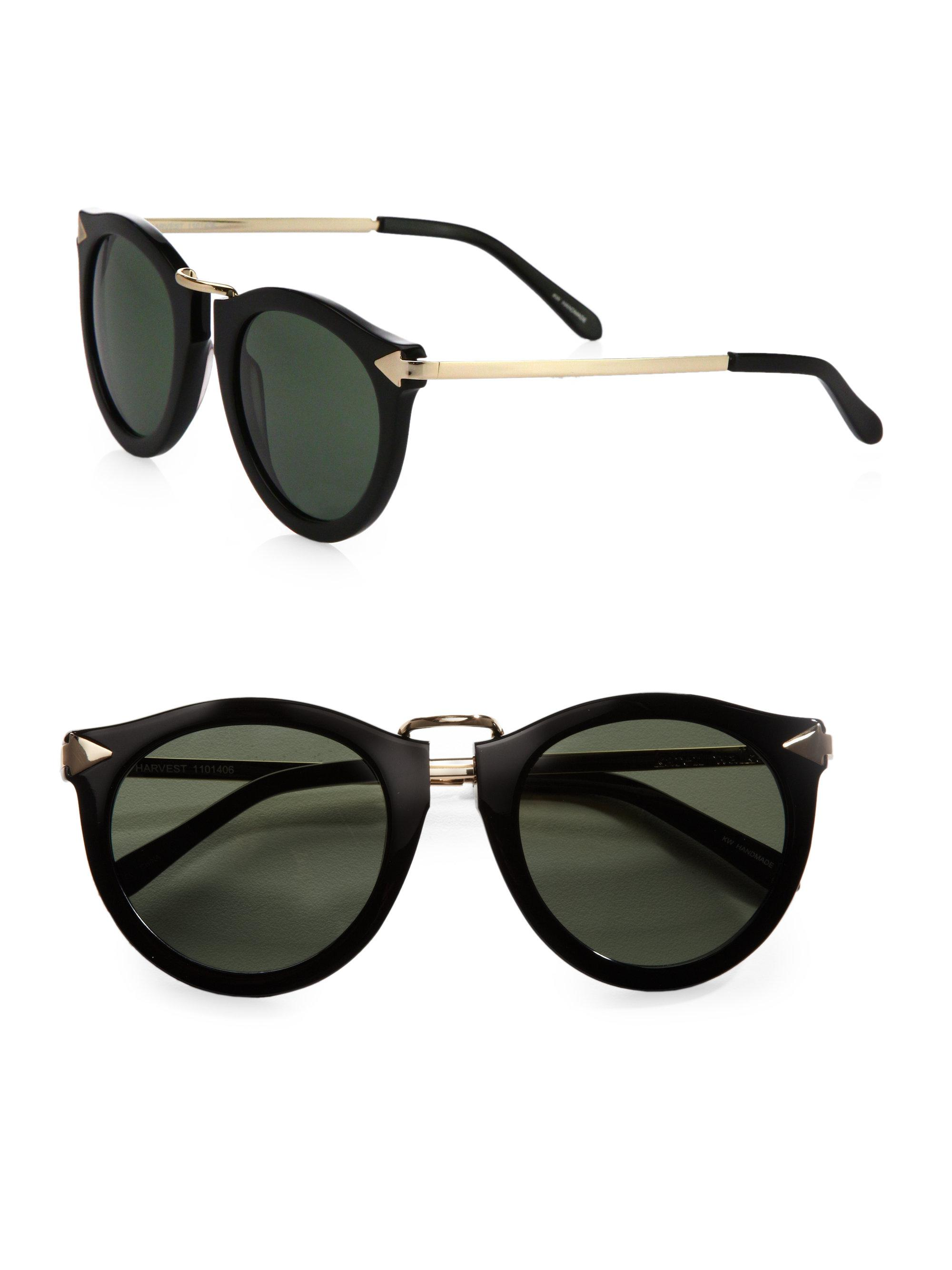 d28dba35ff06 Karen Walker Harvest Sunglasses in Black - Lyst