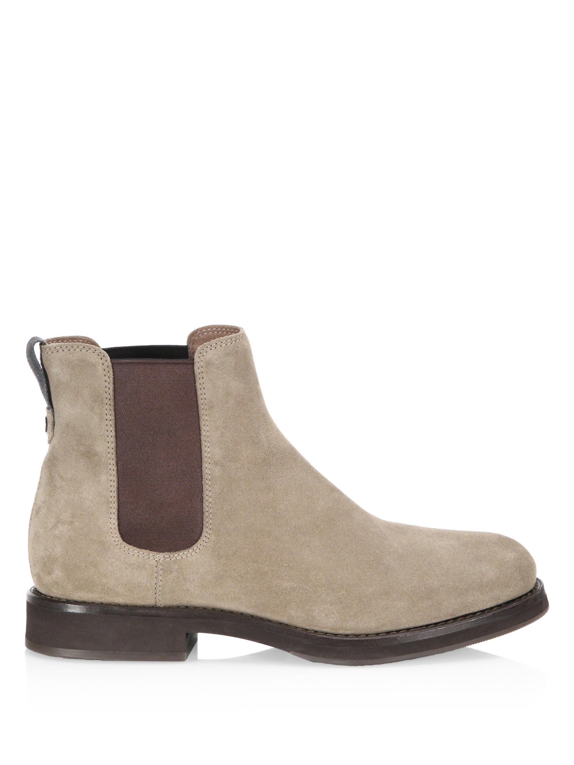 Brunello Cucinelli Two-Tone Suede Chelsea Boots xwhwsKTX