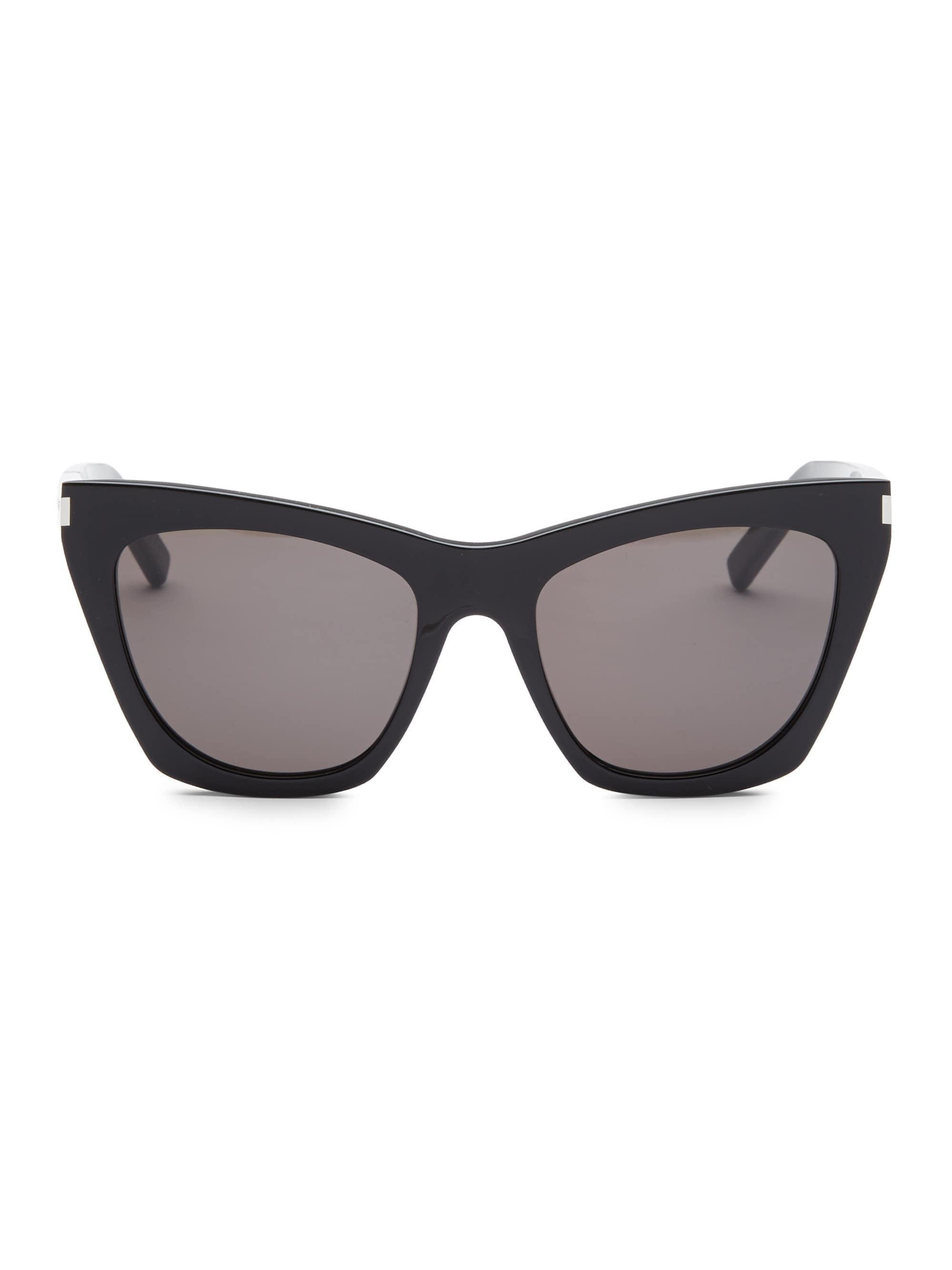 78854bca06 Saint Laurent 55mm New Wave 214 Kate Sunglasses in Black - Lyst