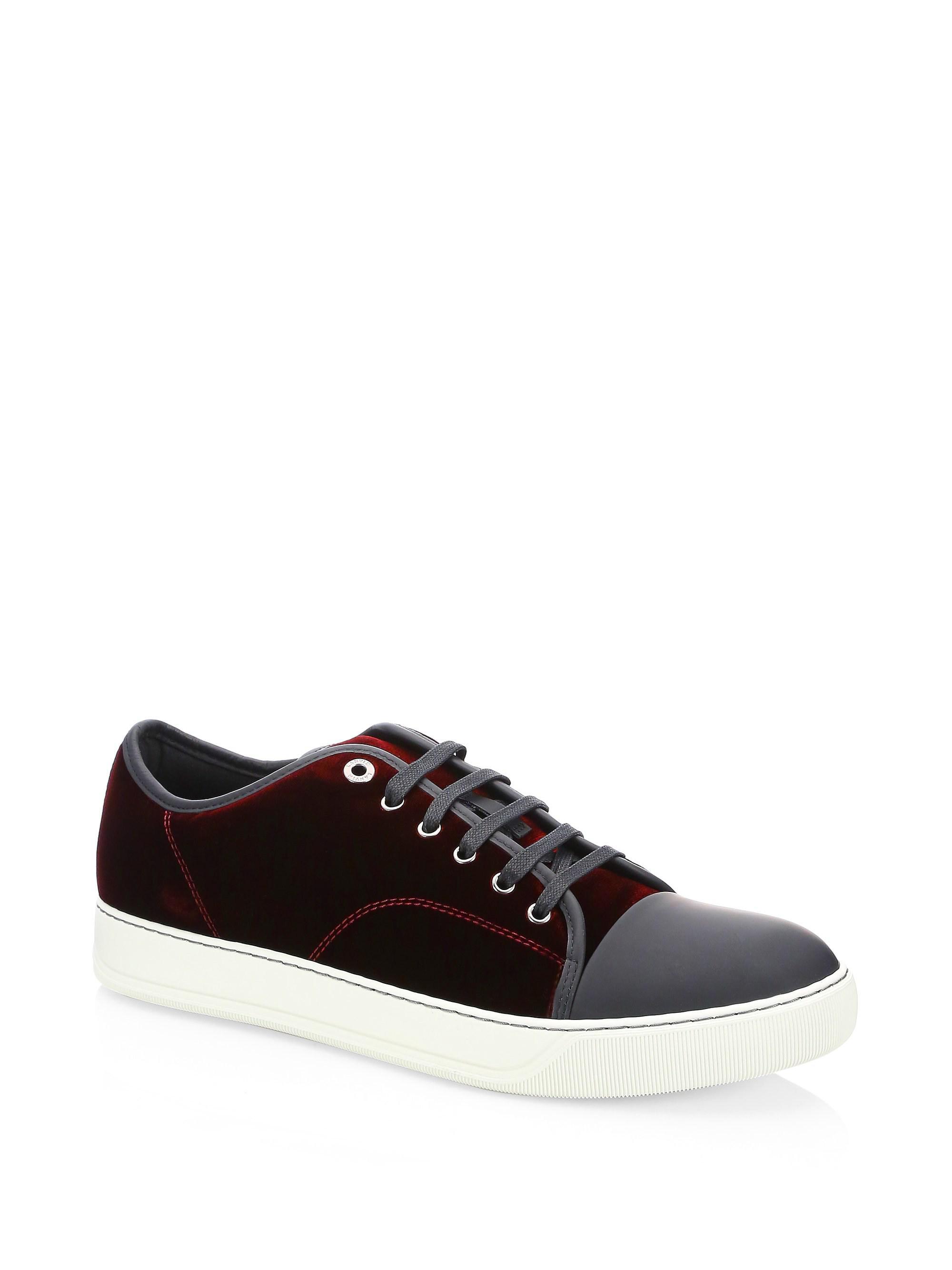 LanvinVelvet Lace Up Sneakers Nea2yZi00