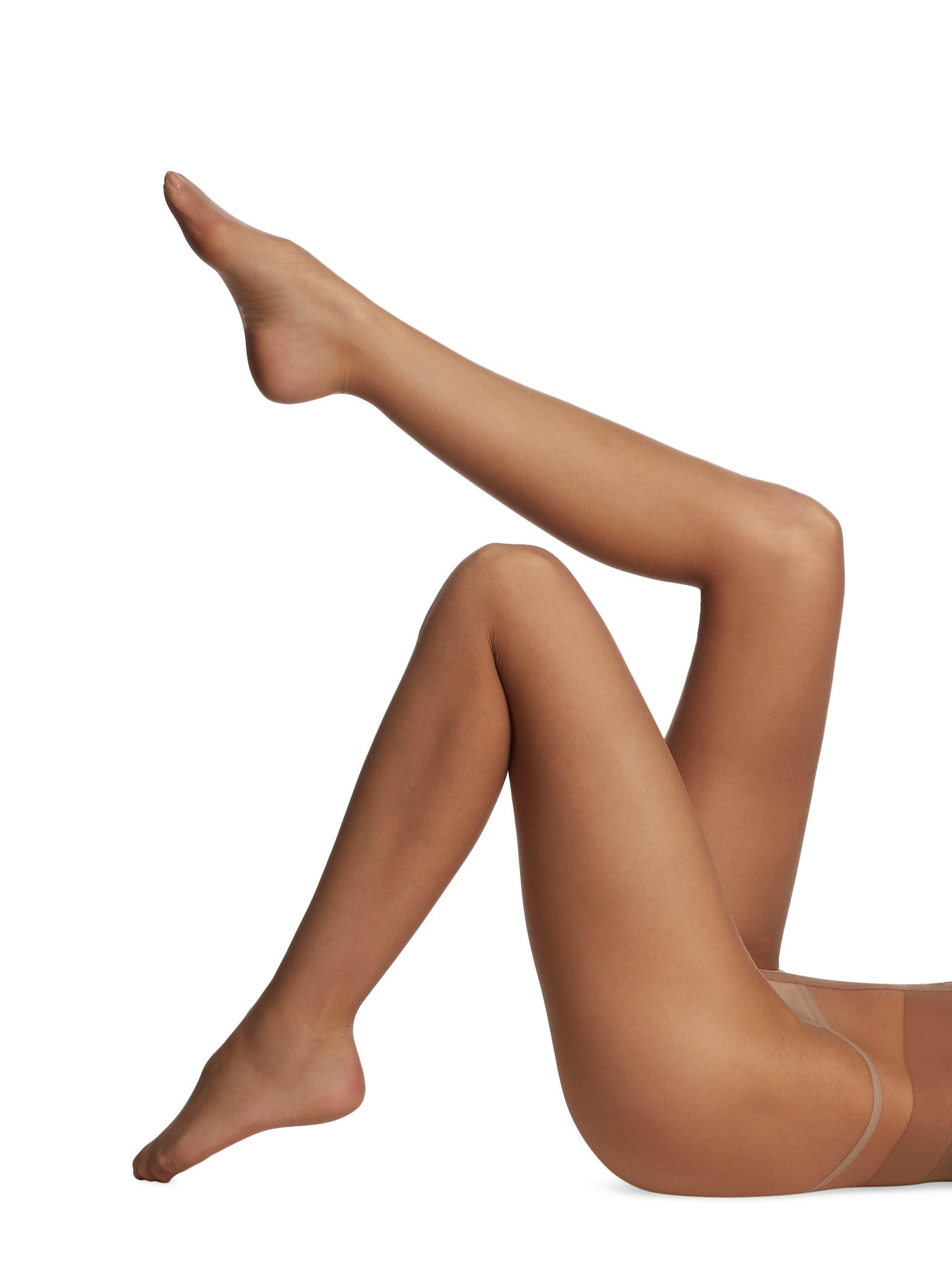 7f4eff77d Donna Karan. Natural Women s Whisper Weight Nudes Sheer To Waist Tights ...
