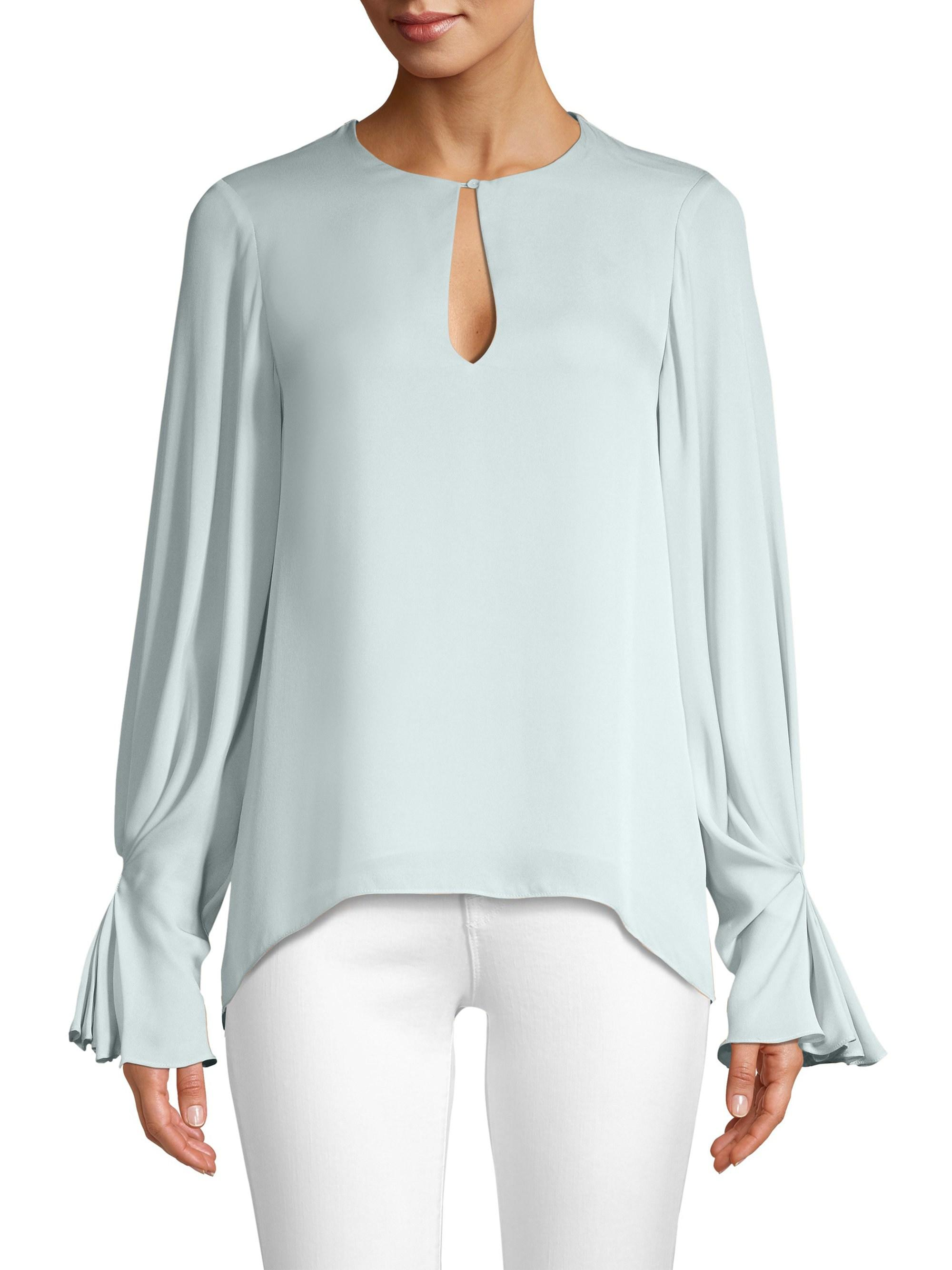 402c3a11bdb6ab Lyst - Joie Abekwa Silk Blouse in Blue