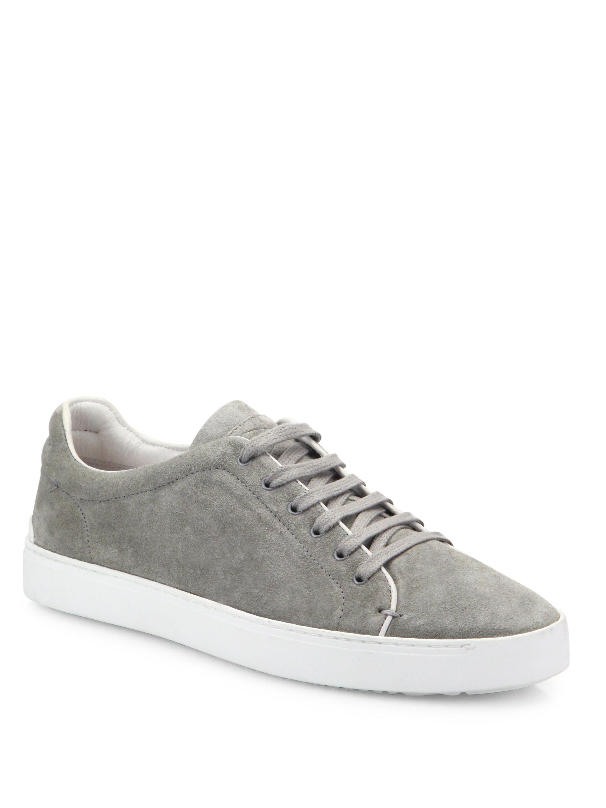 RAG&BONE Nefer Cemento Suede Sneakers QJxbNM4Qh