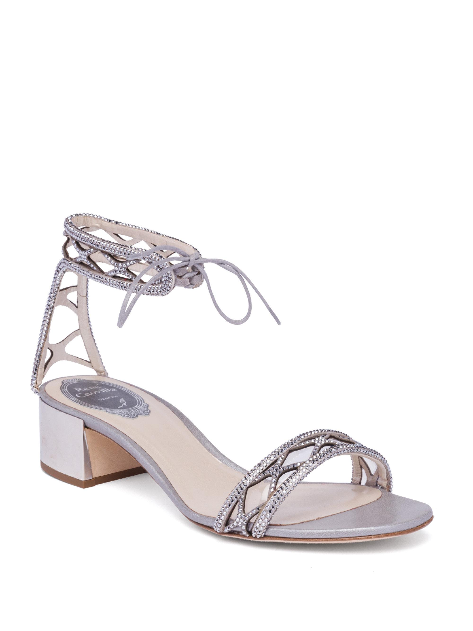 ankle strap sandals - Grey Rene Caovilla WHSRy2R